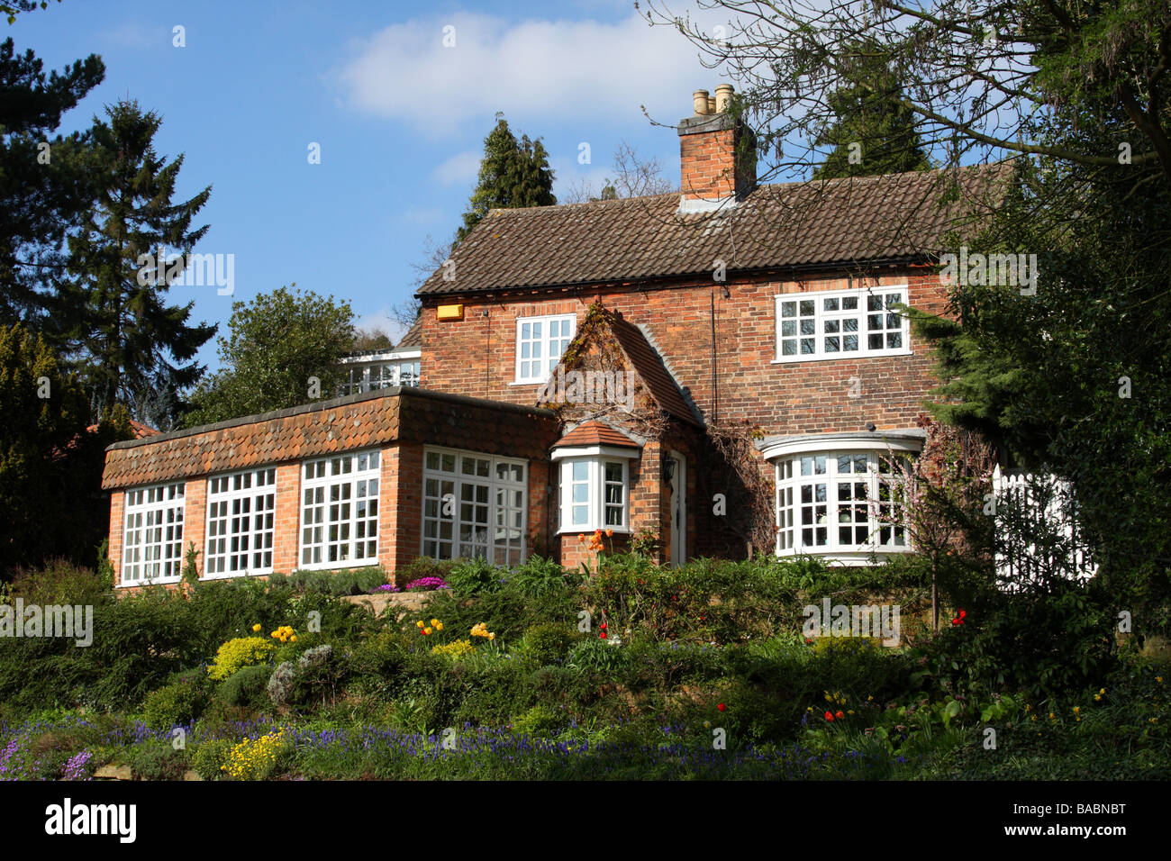 A detached house in the U.K. Stock Photo