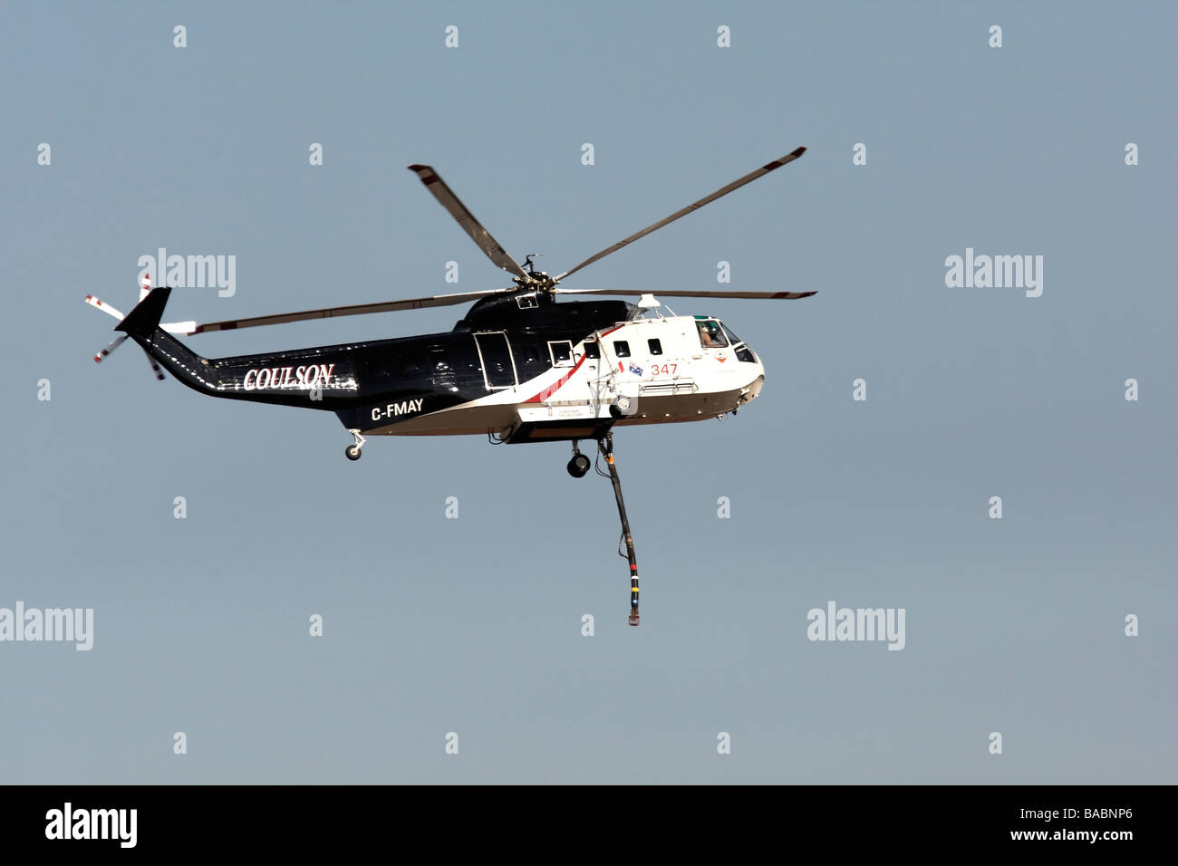 Coulson C FMAY Fire Fighting Helicopter HTK 347 - Stock Image