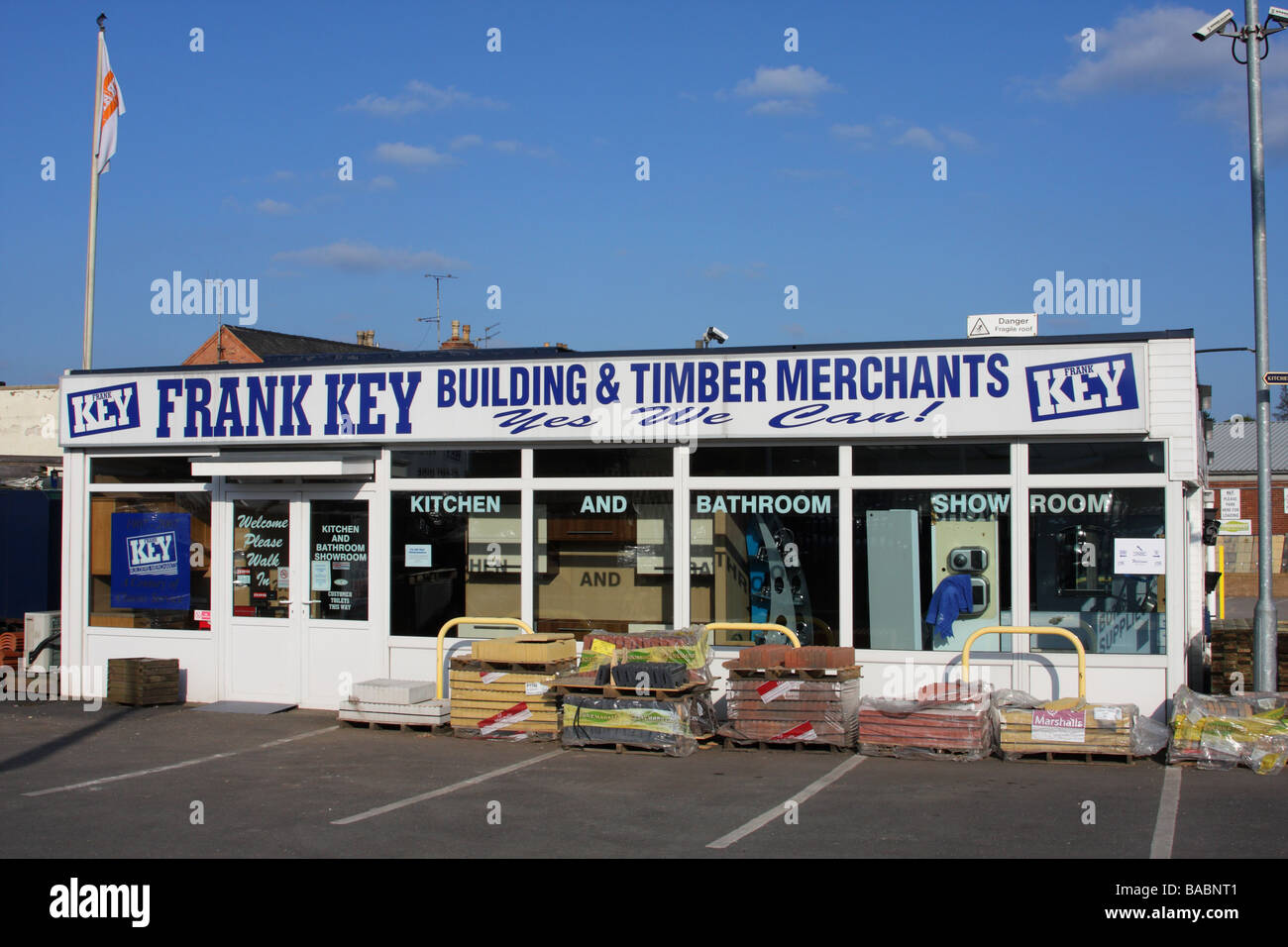 Frank Key builders merchants, Daybrook, Nottingham, England, U.K - Stock Image