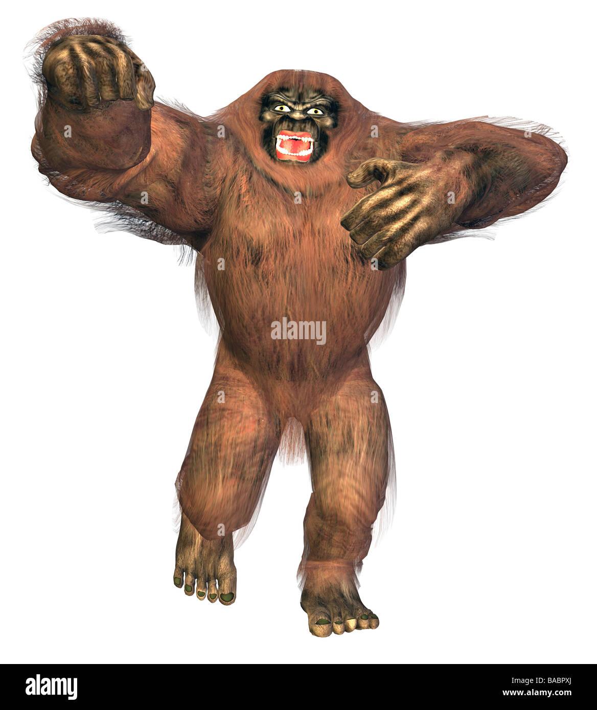 bigfoot yeti - Stock Image