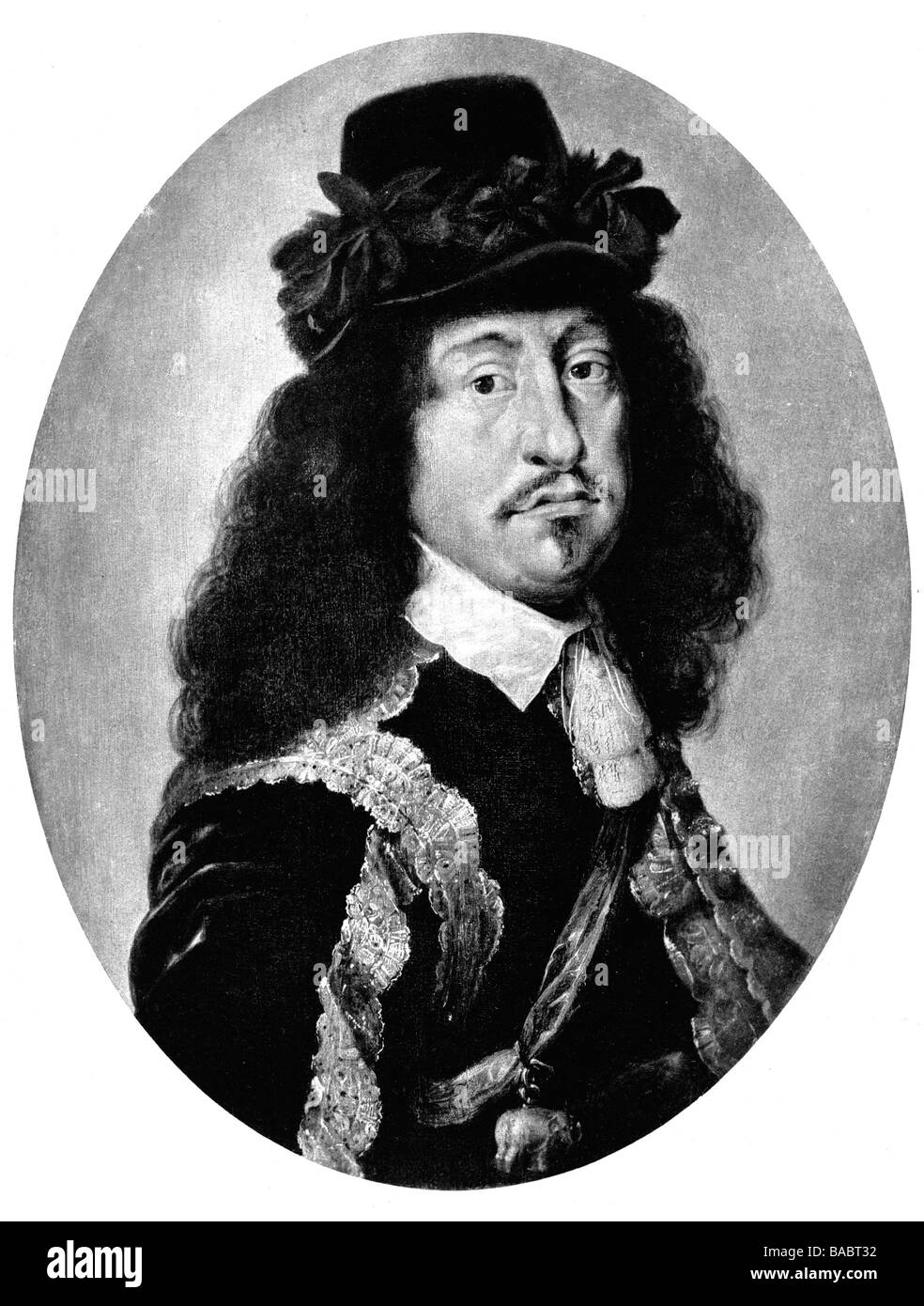 Frederick III, 18.3.1609 - 19.2.1670, King of Denmark 28.2.1648 - 9.2.1670, portrait, after painting by Karl van Stock Photo