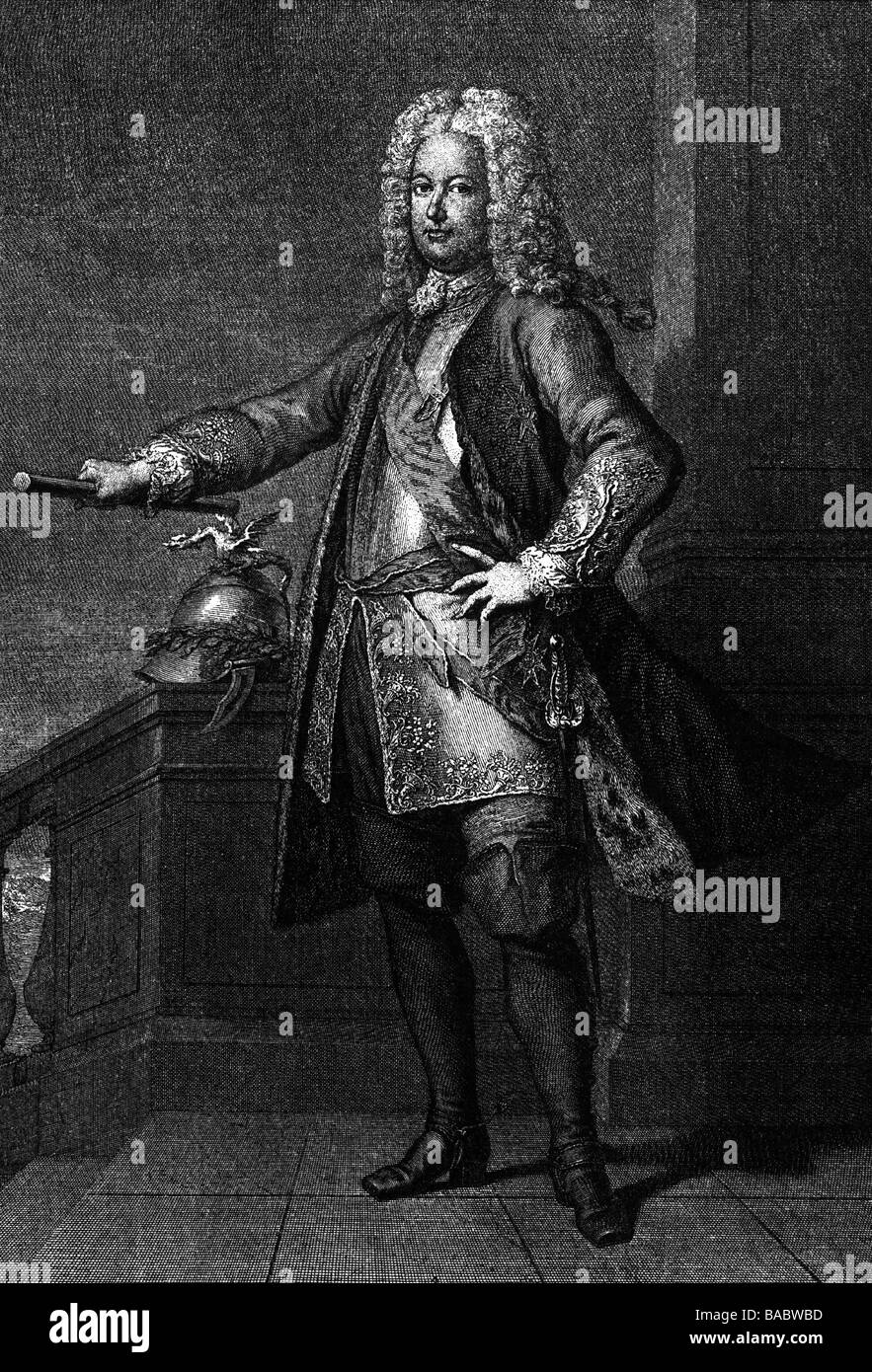 Stanislav I Leszczynski, 20.10 .1677 - 23.2.1766, Ling of Poland , Artist's Copyright has not to be cleared - Stock Image