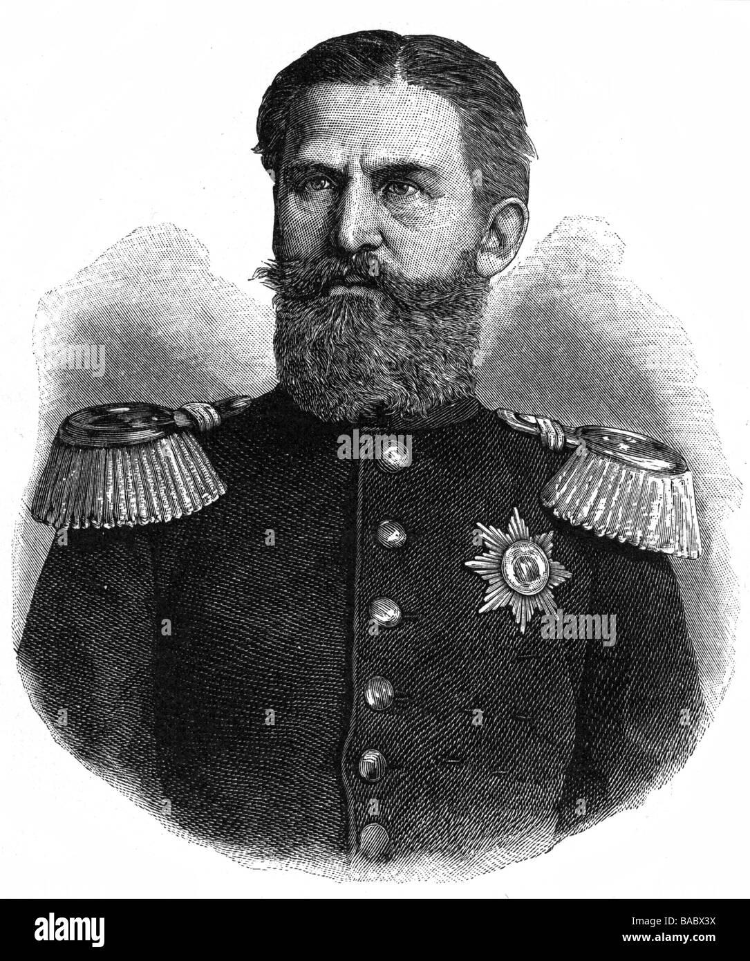 Henry XIV, 28.5.1832 - 29.3.1913, Prince of Reuss (younger dynasty), from 11.7.1867, regent of Reuss (older dynasty), - Stock Image