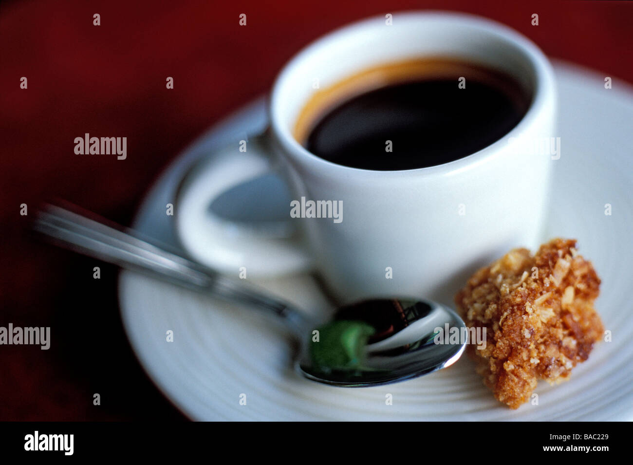 Indonesia, Bali, coffee as served at the Ubud Hanging Gardens Resort, member of the Orient-Express Group - Stock Image