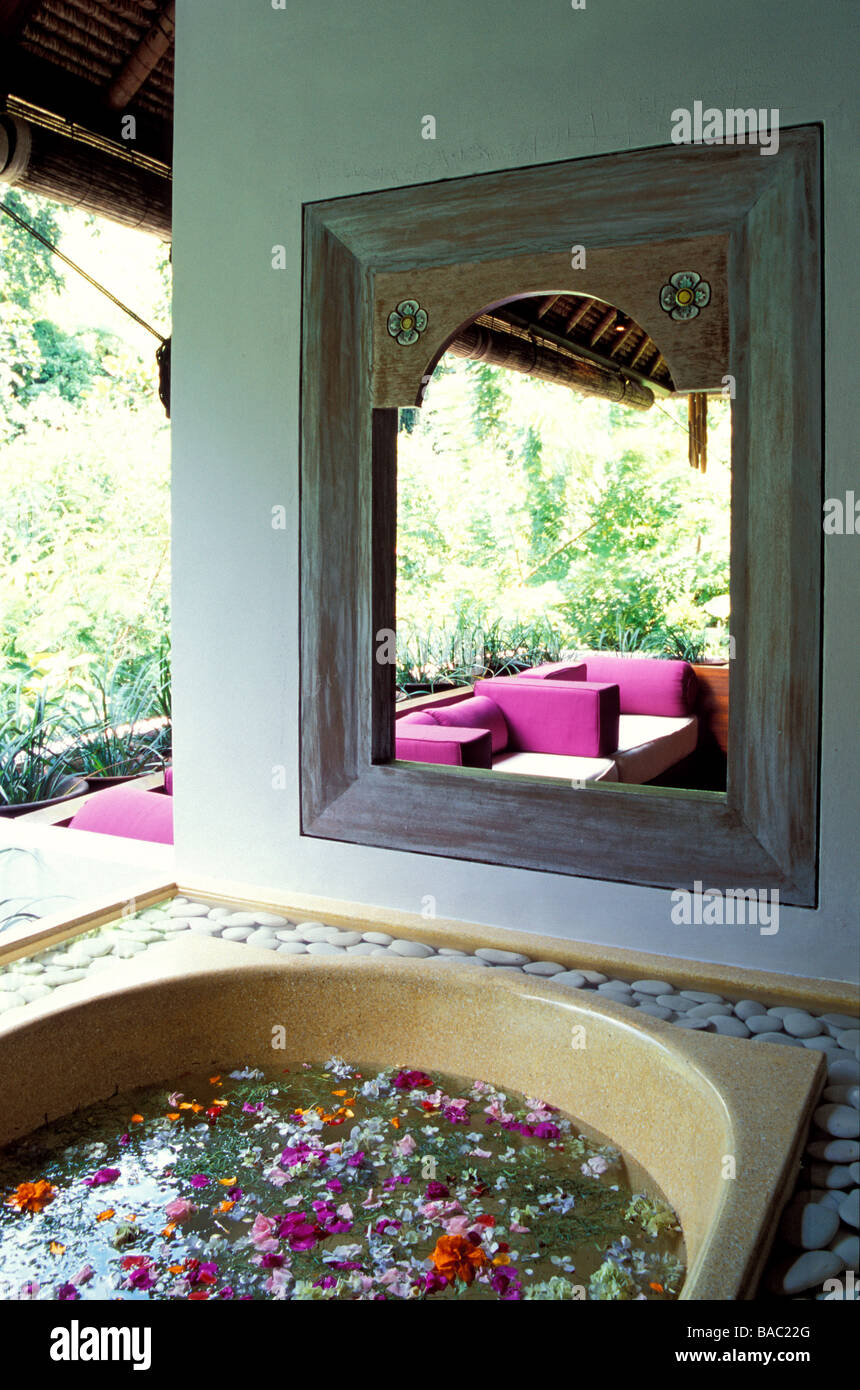 Indonesia, Bali, therapy suite in the Ayung Spa at the Ubud Hanging Gardens Resort, member of the Orient-Express - Stock Image