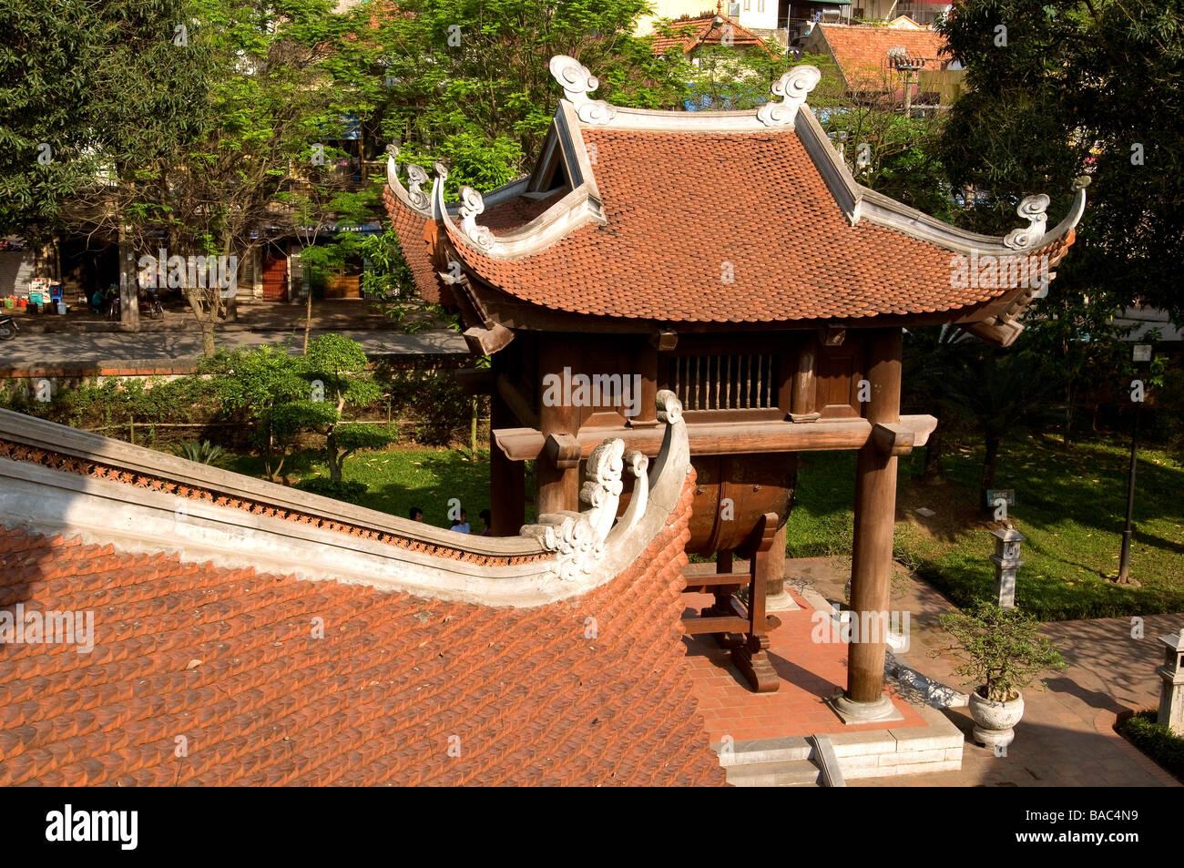 Vietnam, Hanoi, the Temple of Literature XI century - Stock Image