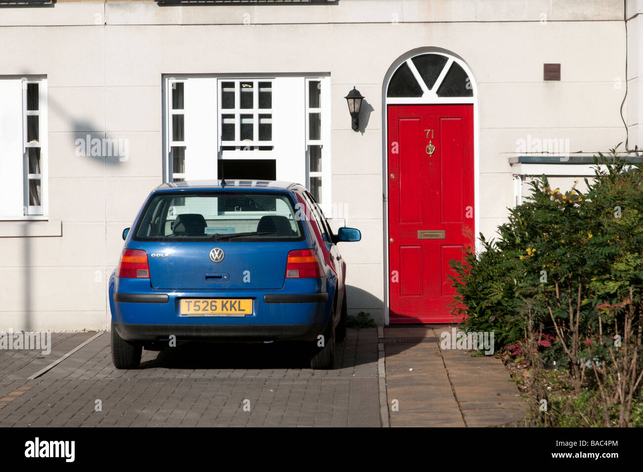 Car parked in the drive, London England UK - Stock Image