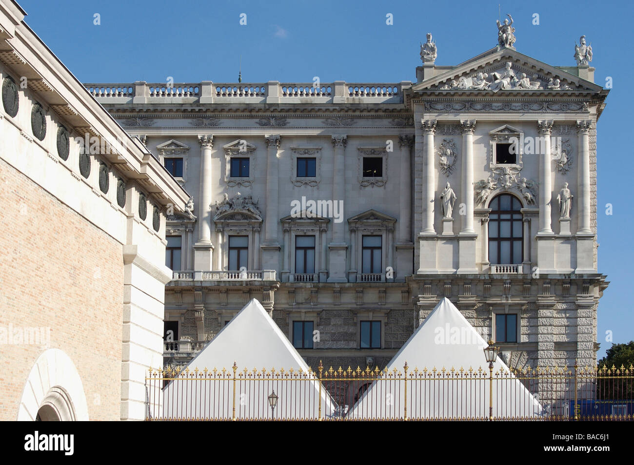 Museum of Ethnology Vienna Hofburg - Stock Image