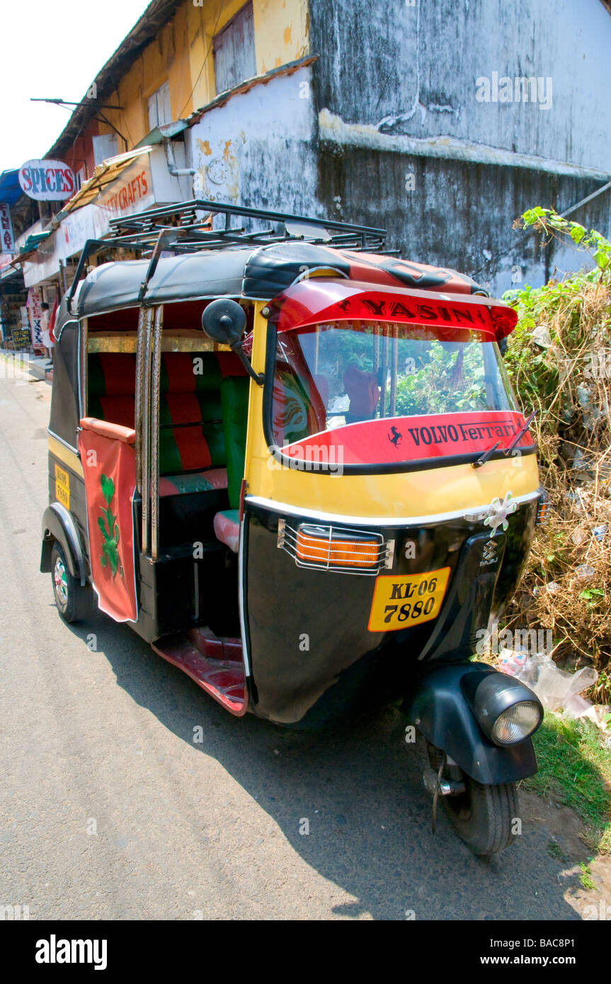 'Tut Tut ' taxi in the streets of Mattancherry  Cochin Keral India - Stock Image