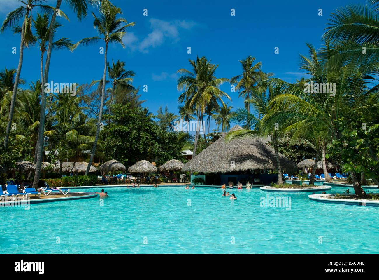 ocean bavaro spa beach resort  now barcelo dominican beach   punta stock photo  23628010