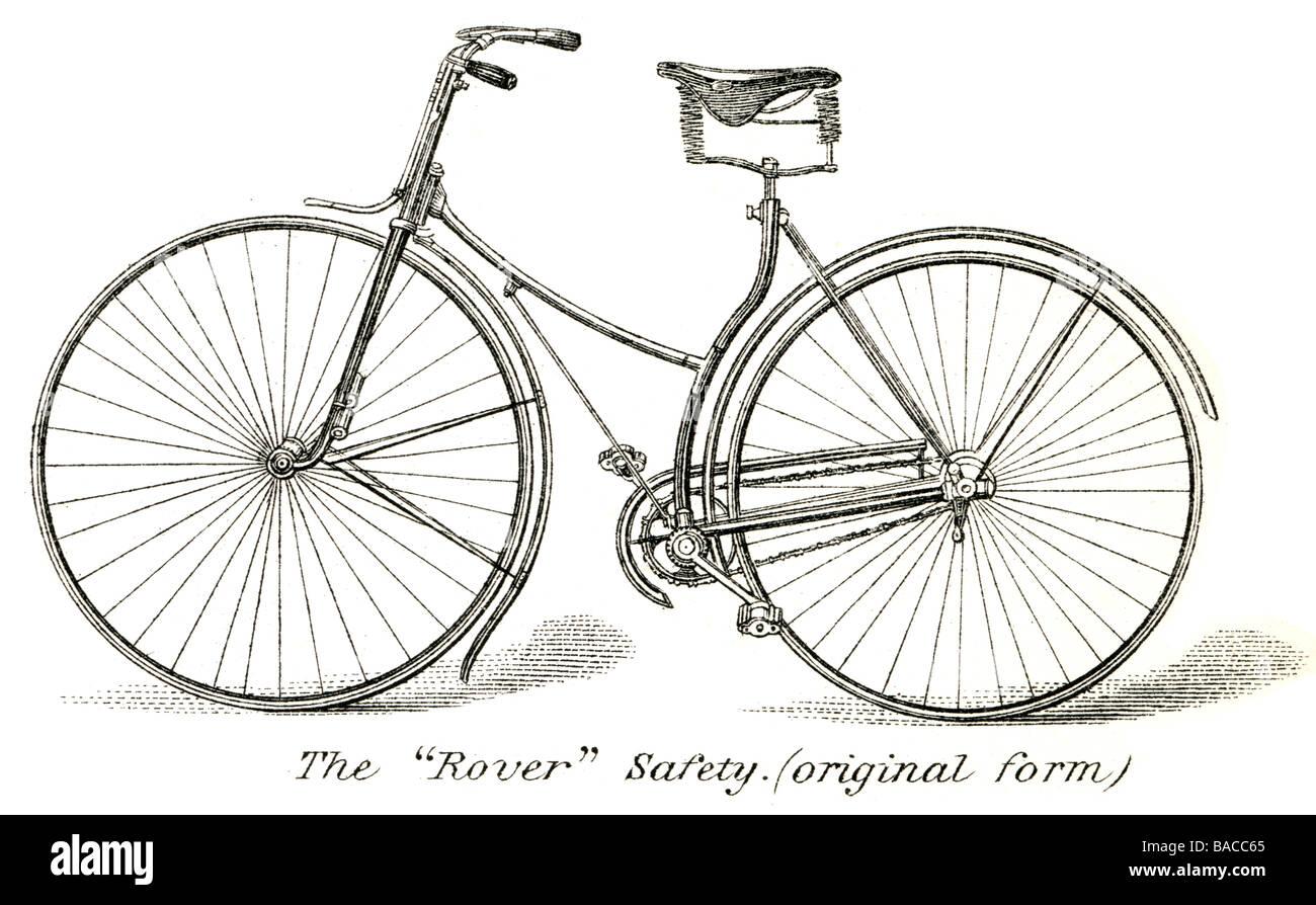 the rover safety bike original form bicycle diamond frame John Kemp ...