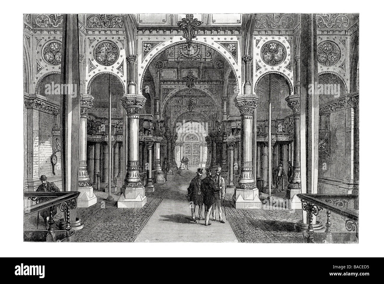 Interior of the Abbey Mills Pumping Station sewerage pumping sewage Joseph Bazalgette - Stock Image
