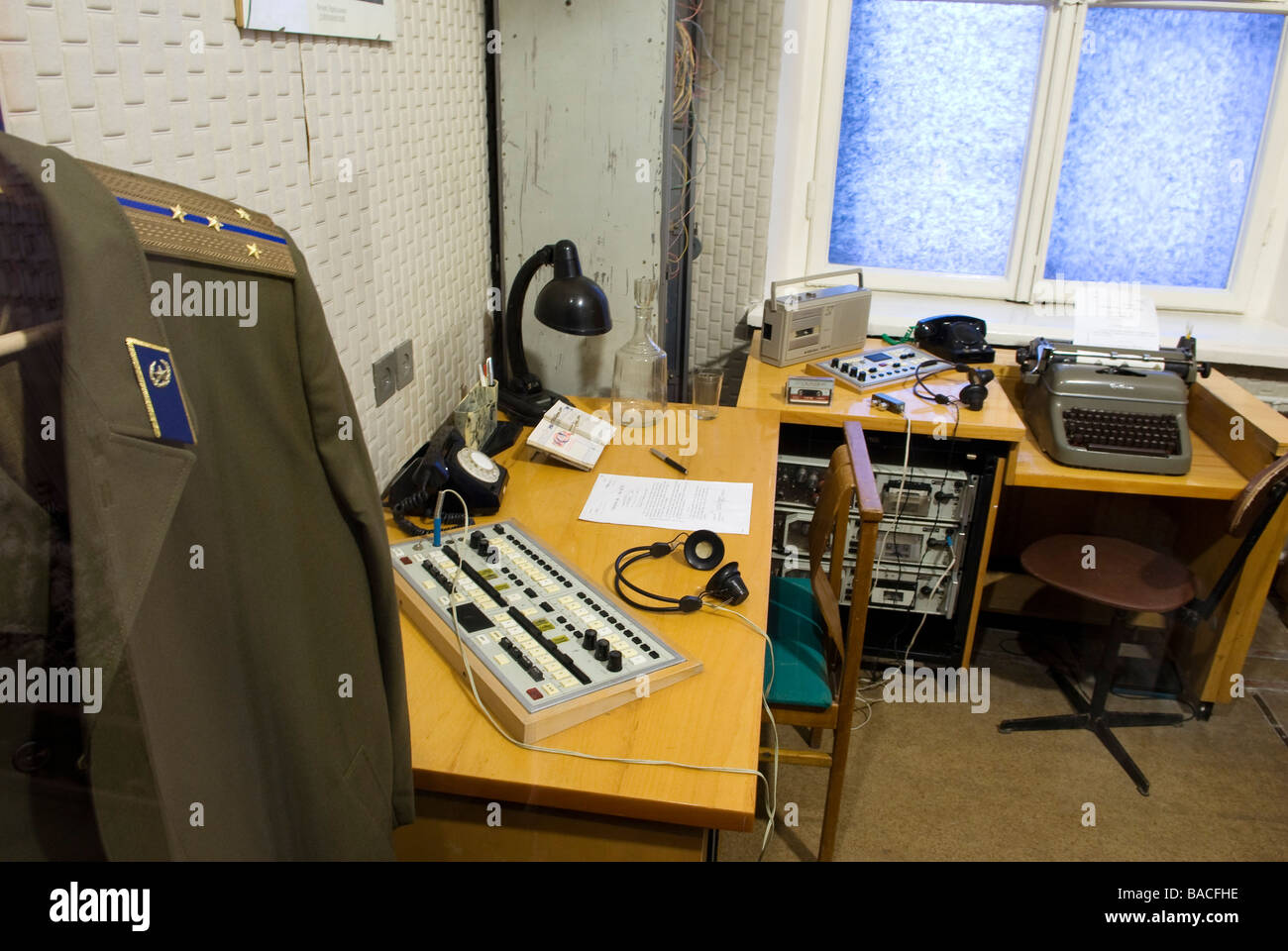 Lithuania (Baltic States), Vilnius, genocide victims museum, former KGB headquarters, Auku 2a, the telephone room - Stock Image
