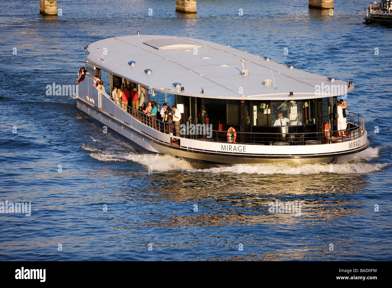 france paris mirage riverboat bateau mouche on the river seine stock photo 23642749 alamy. Black Bedroom Furniture Sets. Home Design Ideas