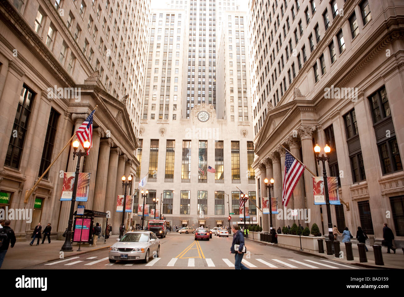Chicago Board of Trade Building Chicago Illinois - Stock Image