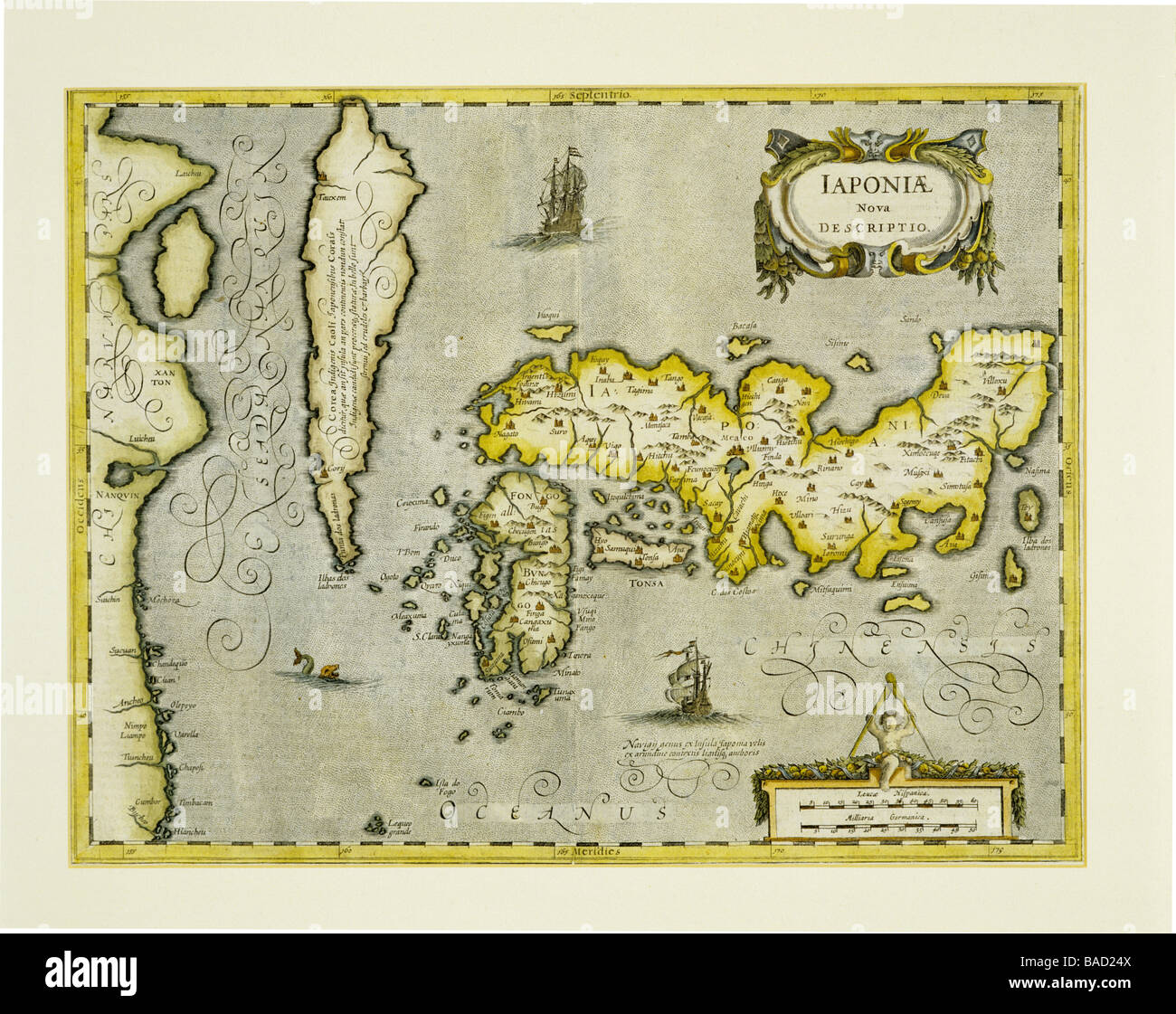 Ancient Map Of Japan.Ancient Map Of Japan Stock Photo 23644010 Alamy