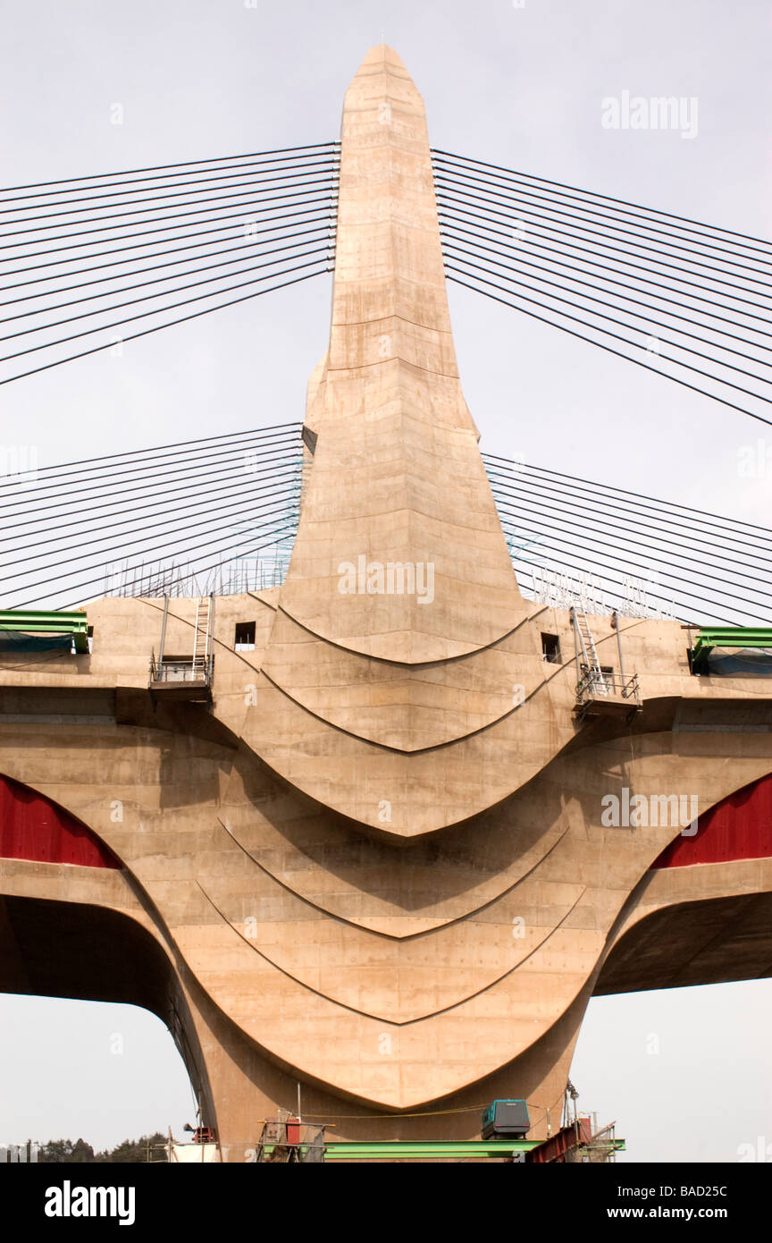 Detail Of Elaborate Architectural Design Of Concrete Bridge Piers At - Architecture-design-in-kyoto-japan
