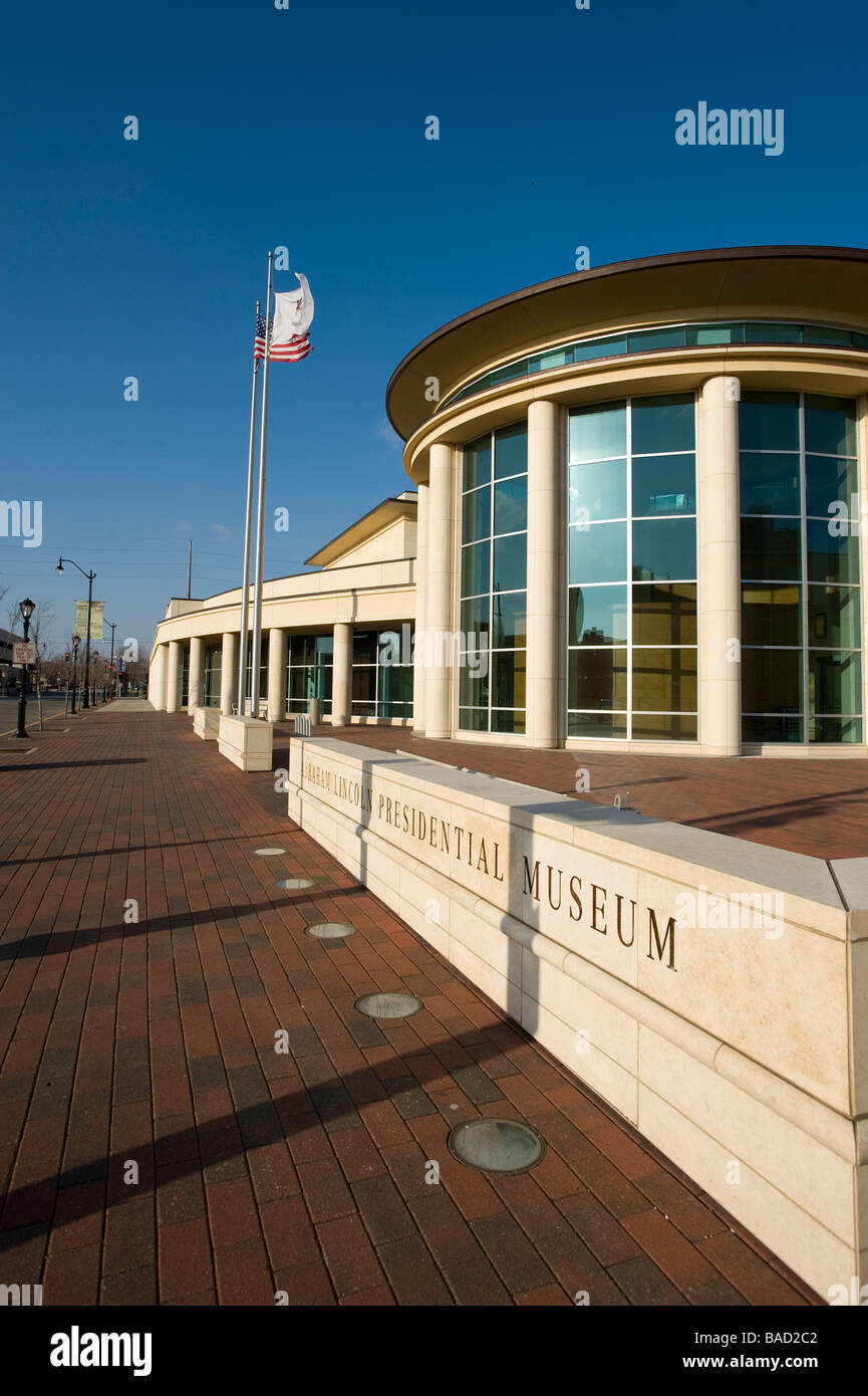 Abraham Lincoln Presidential Library and Museum Springfield Illinois - Stock Image