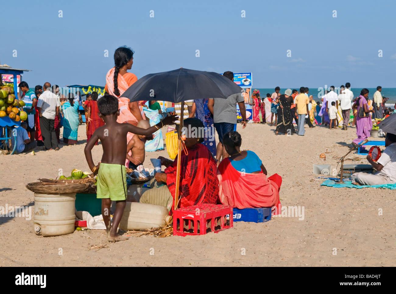 Velankanni beach Tamil Nadu India Stock Photo