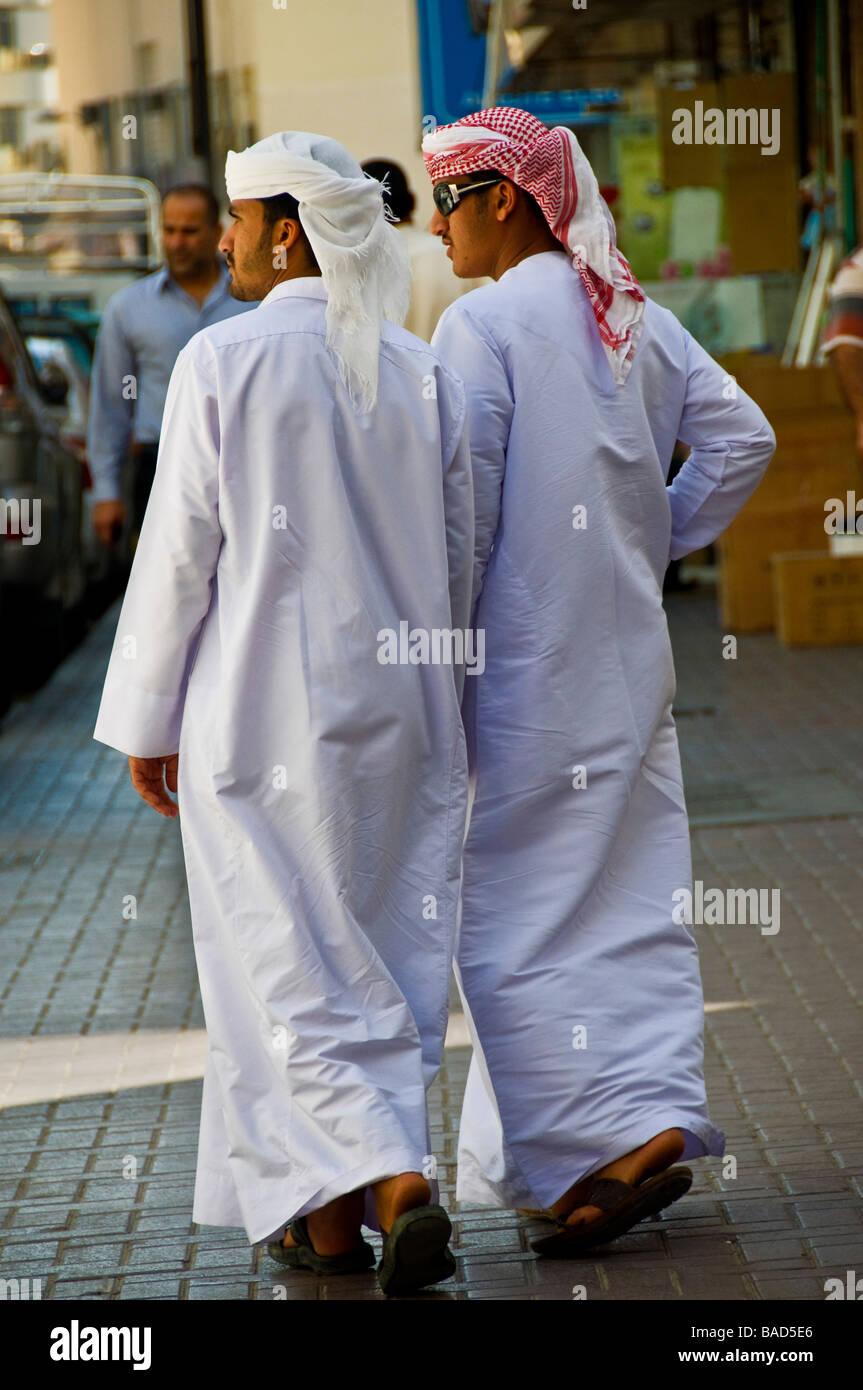 Dubai street scene Stock Photo