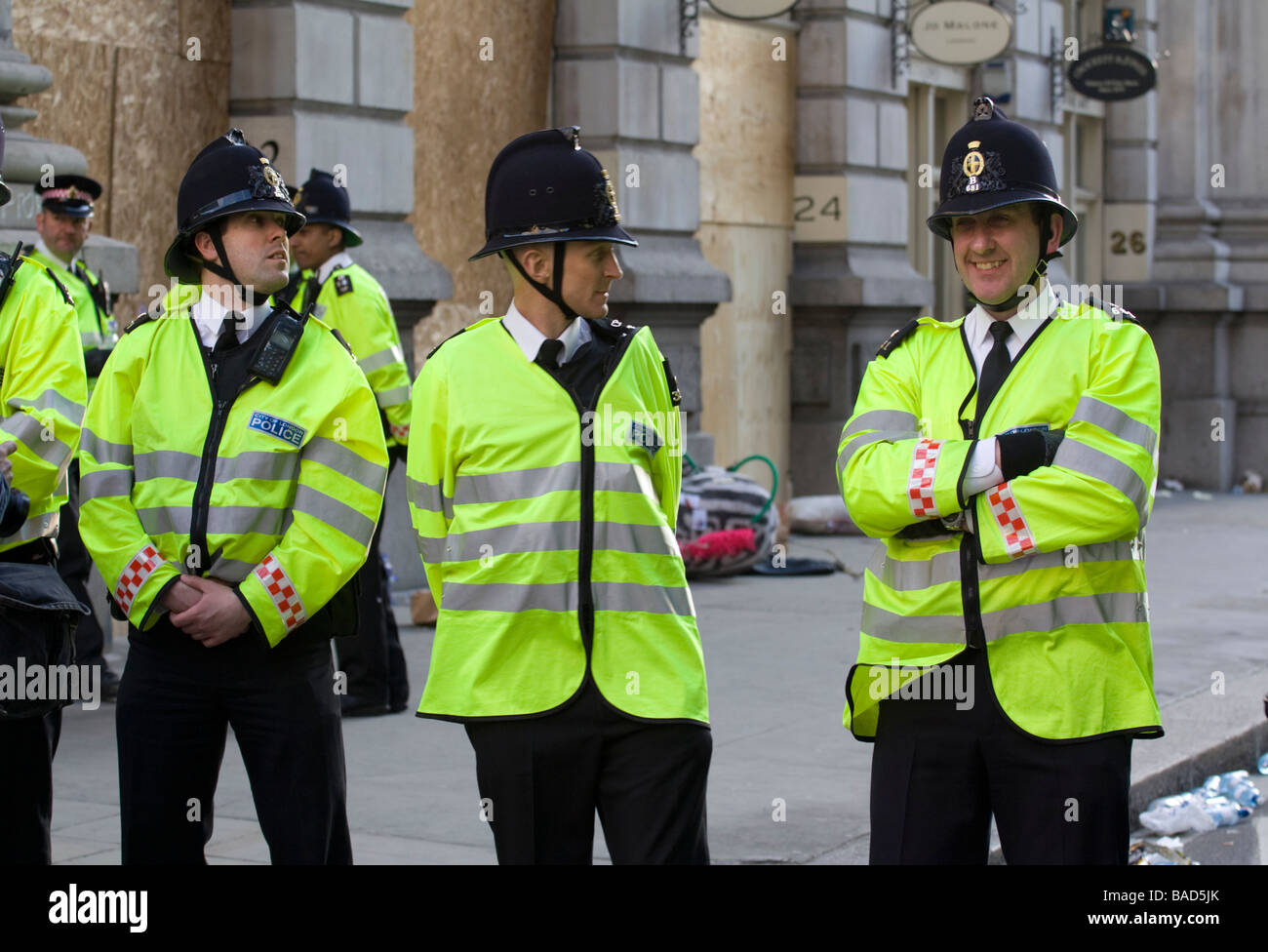 City of London Police - G20 summit protests - Stock Image