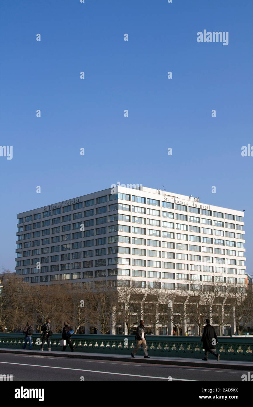 St Thomas Hospital London - Stock Image