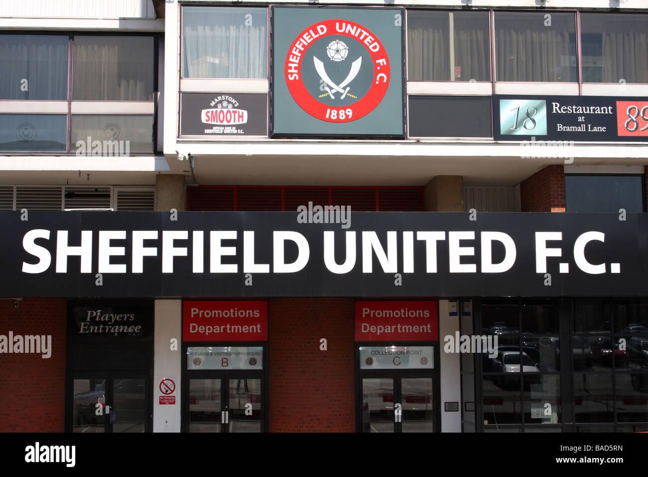Sheffield United Football Club, Bramall Lane, Sheffield, South Yorkshire, England, U.K. - Stock Image