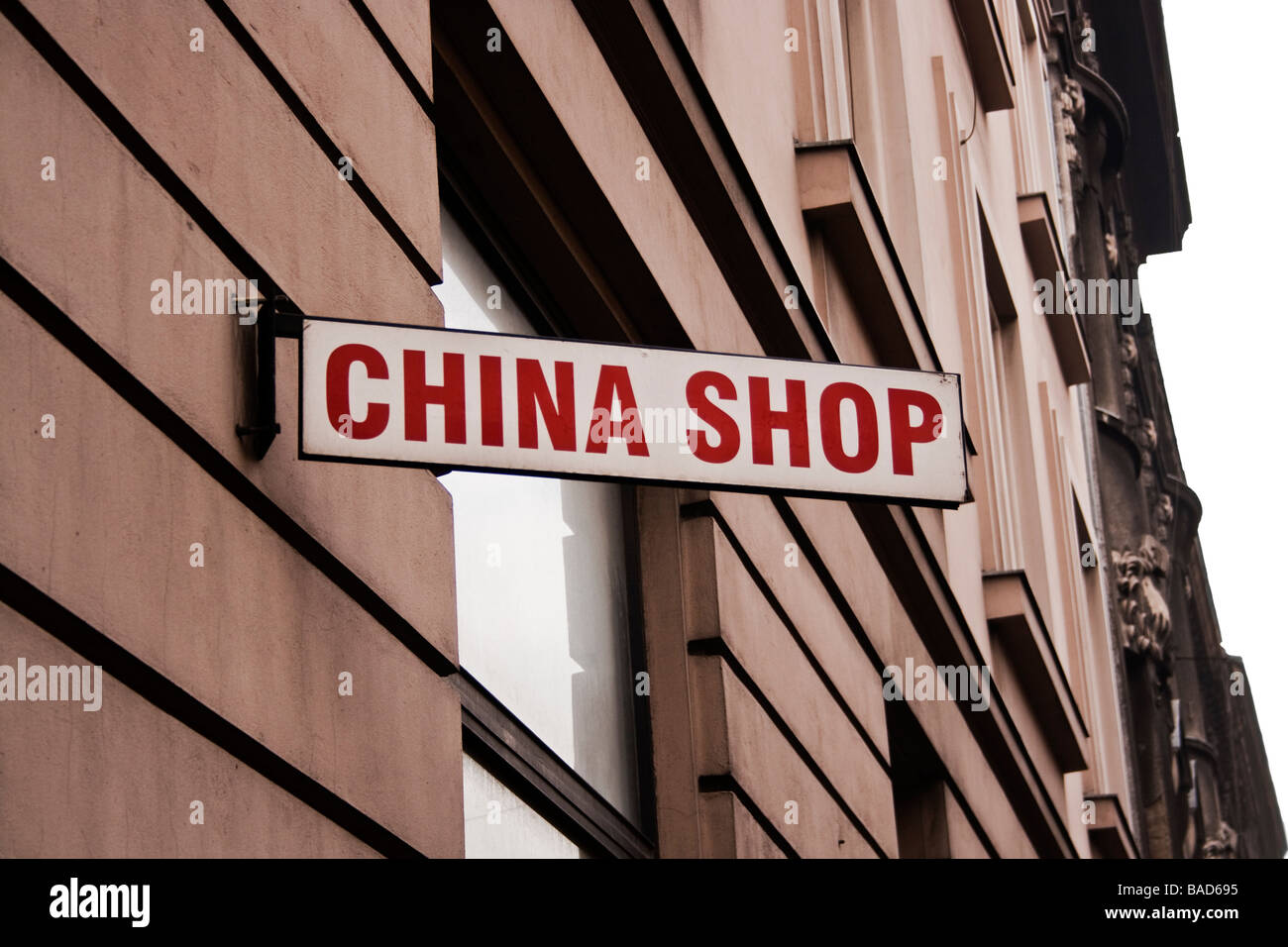 China shop sign - Stock Image