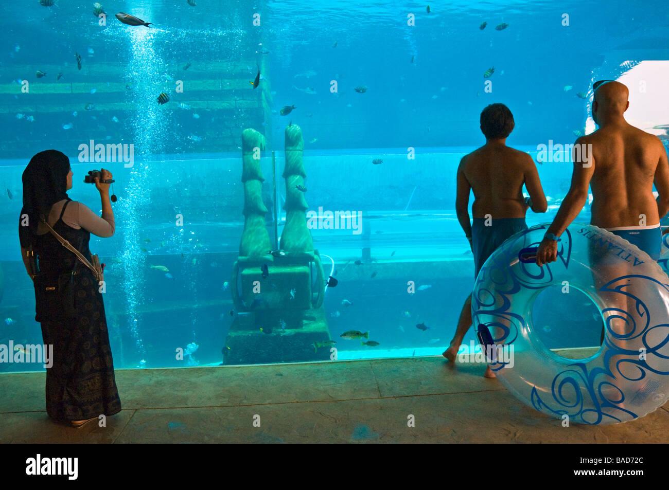 Aquarium Aquapark Atlantis Dubai - Stock Image