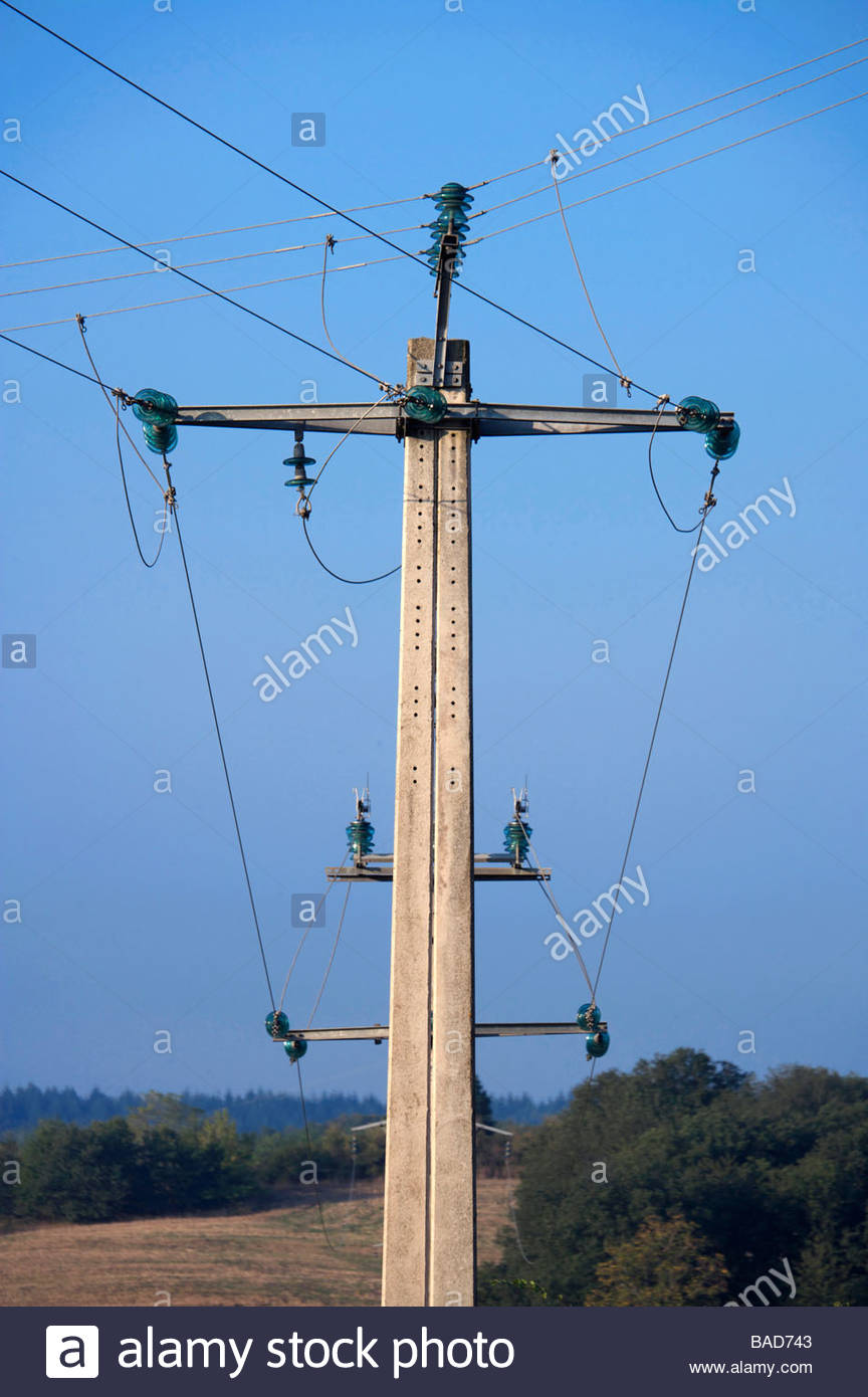 electricity wires Stock Photo