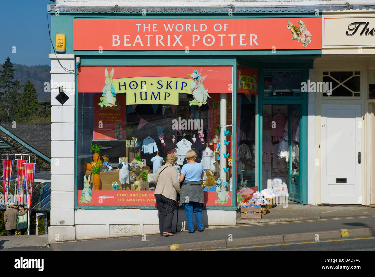 The World of Beatrix Potter, a shop in Bowness-on-Windermere, Lake District National Park, Cumbria, England UK - Stock Image