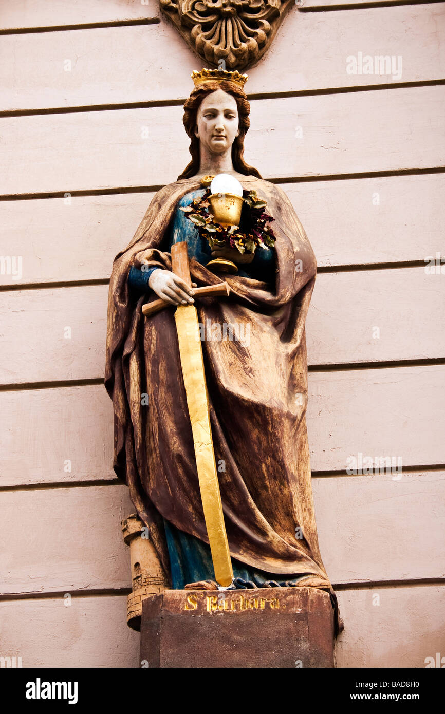 Saint Barbara statue - Stock Image