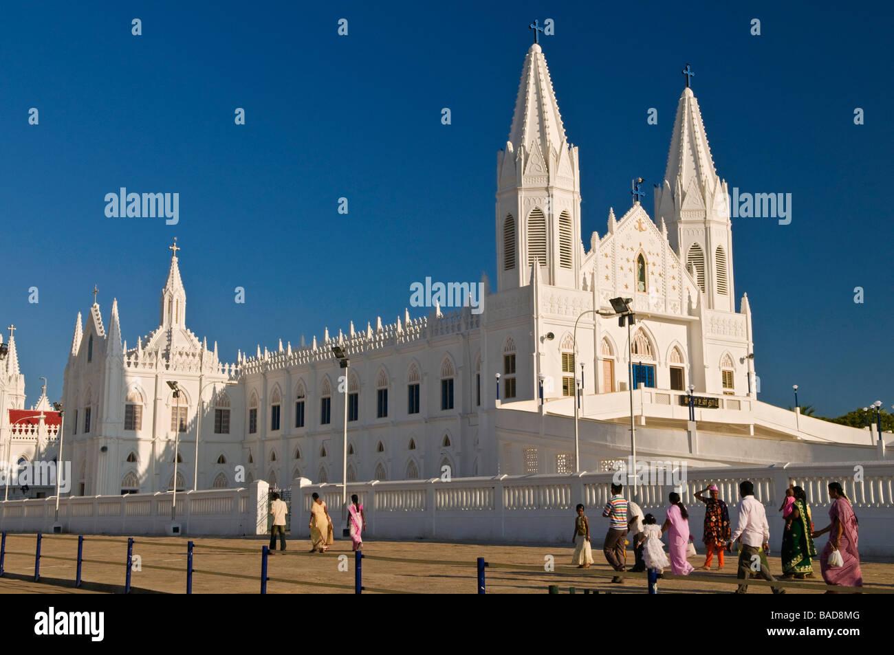 Shrine Basilica of Our Lady of Good Health Velankanni Tamil Nadu India Stock Photo