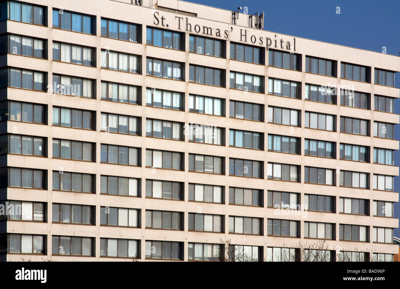 St. Thomas Hospital - London - Stock Image