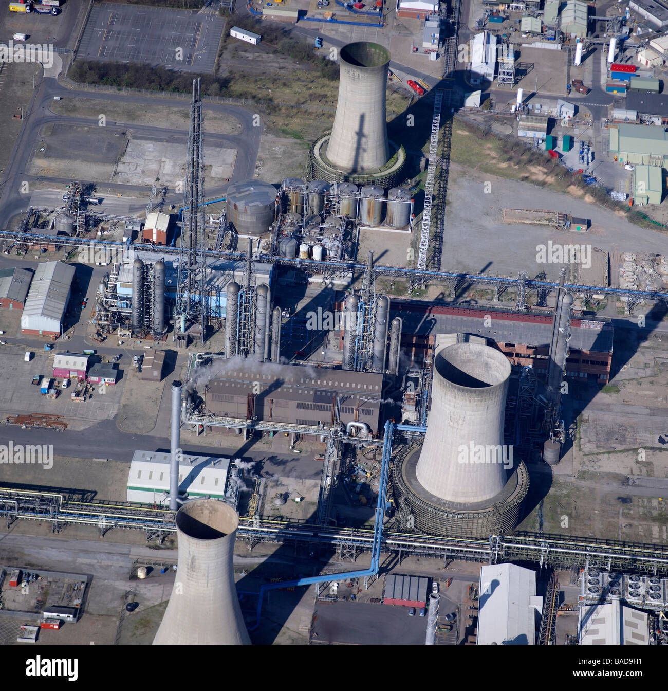 Close up of Chemical works, Billingham, Teeside, Northeast England - Stock Image