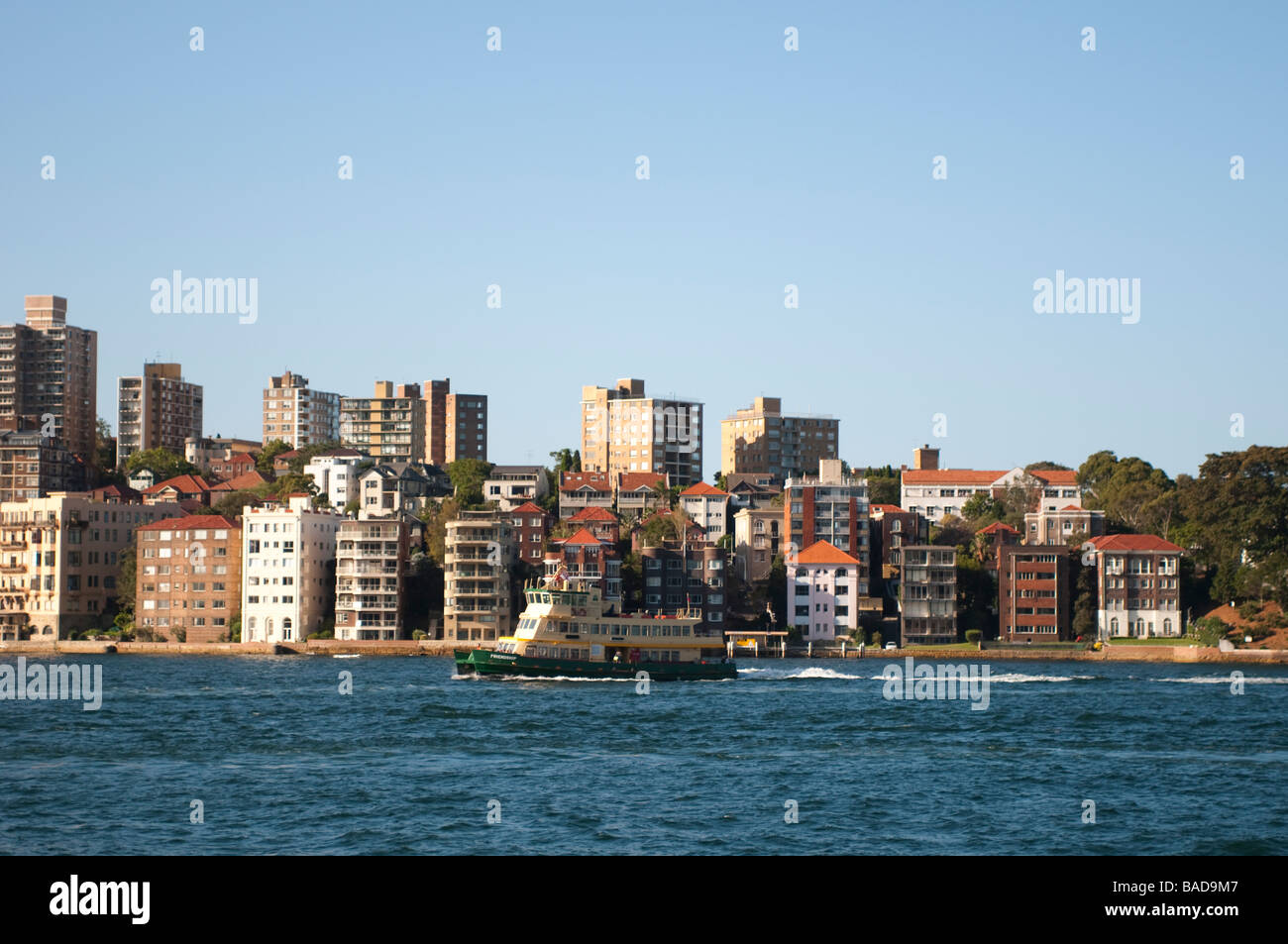 Kirribilli and Sydney Harbour NSW Australia - Stock Image