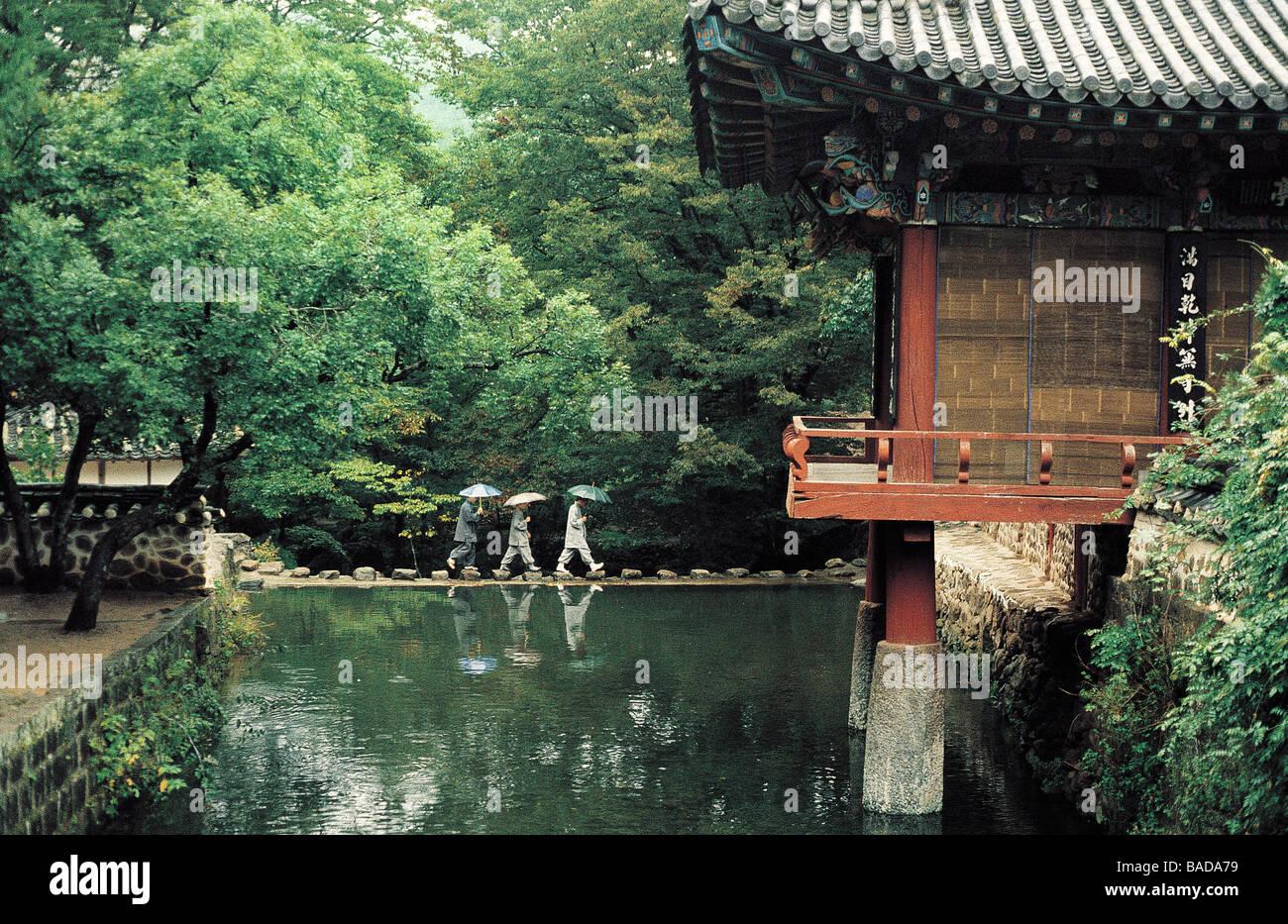 South Korea, Buddhist Monastery of Songkwang Sa - Stock Image