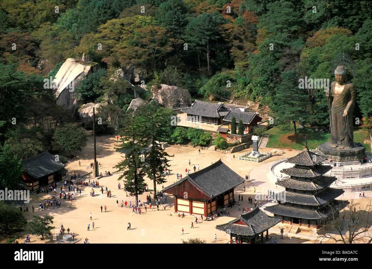South Korea, Songnisan National Park, Popchu Sa Monastery - Stock Image