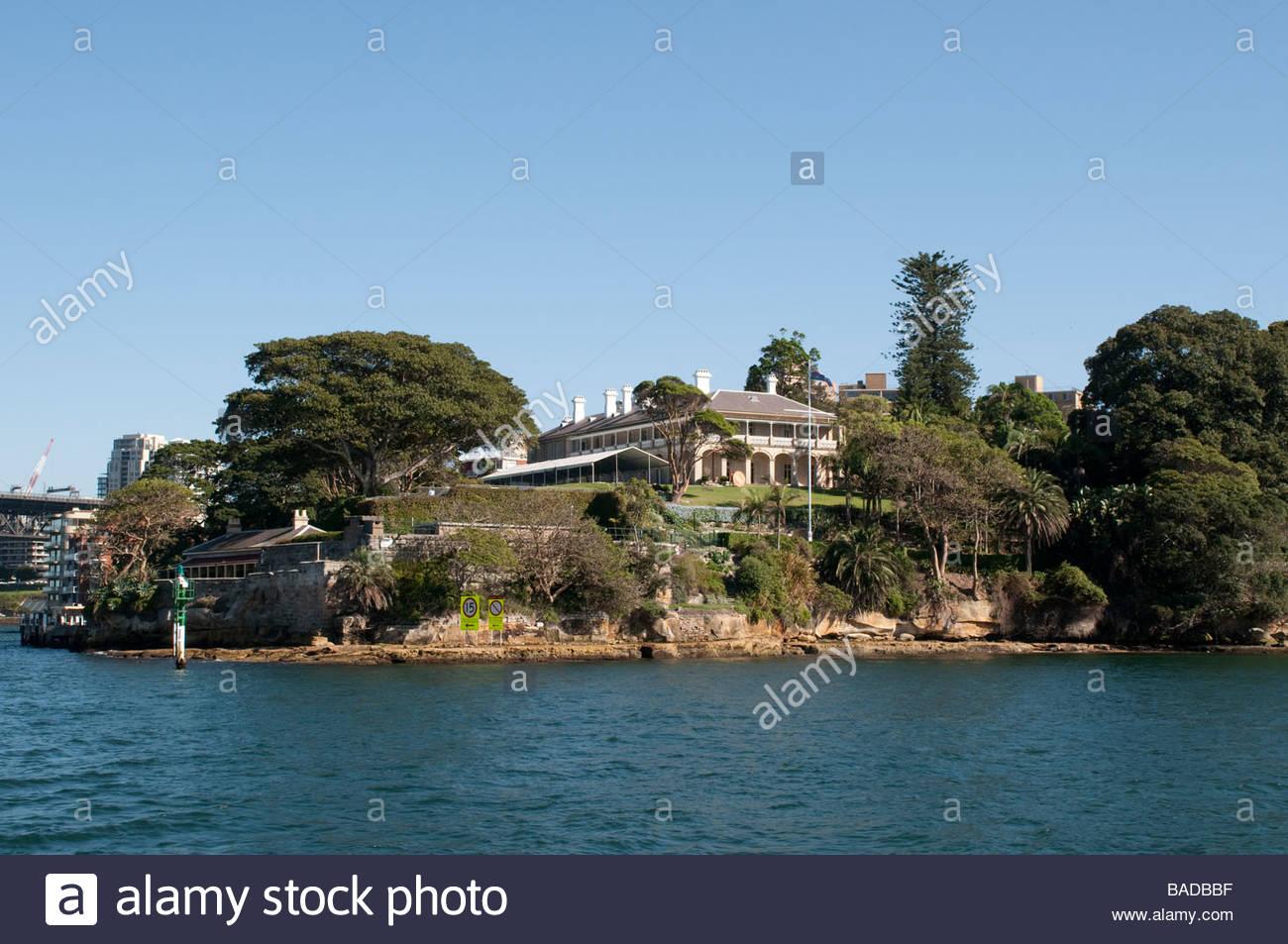 Kirribilli House Prime Minister s residence Sydney NSW Australia - Stock Image