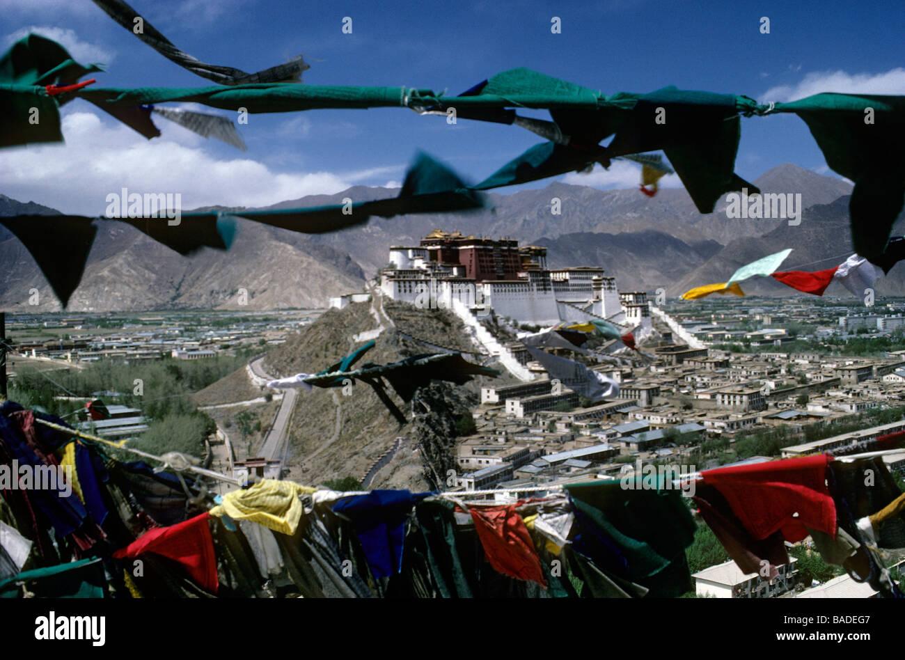 China, Tibet, Lhassa, Potala Palace, classified as World Heritage by UNESCO - Stock Image