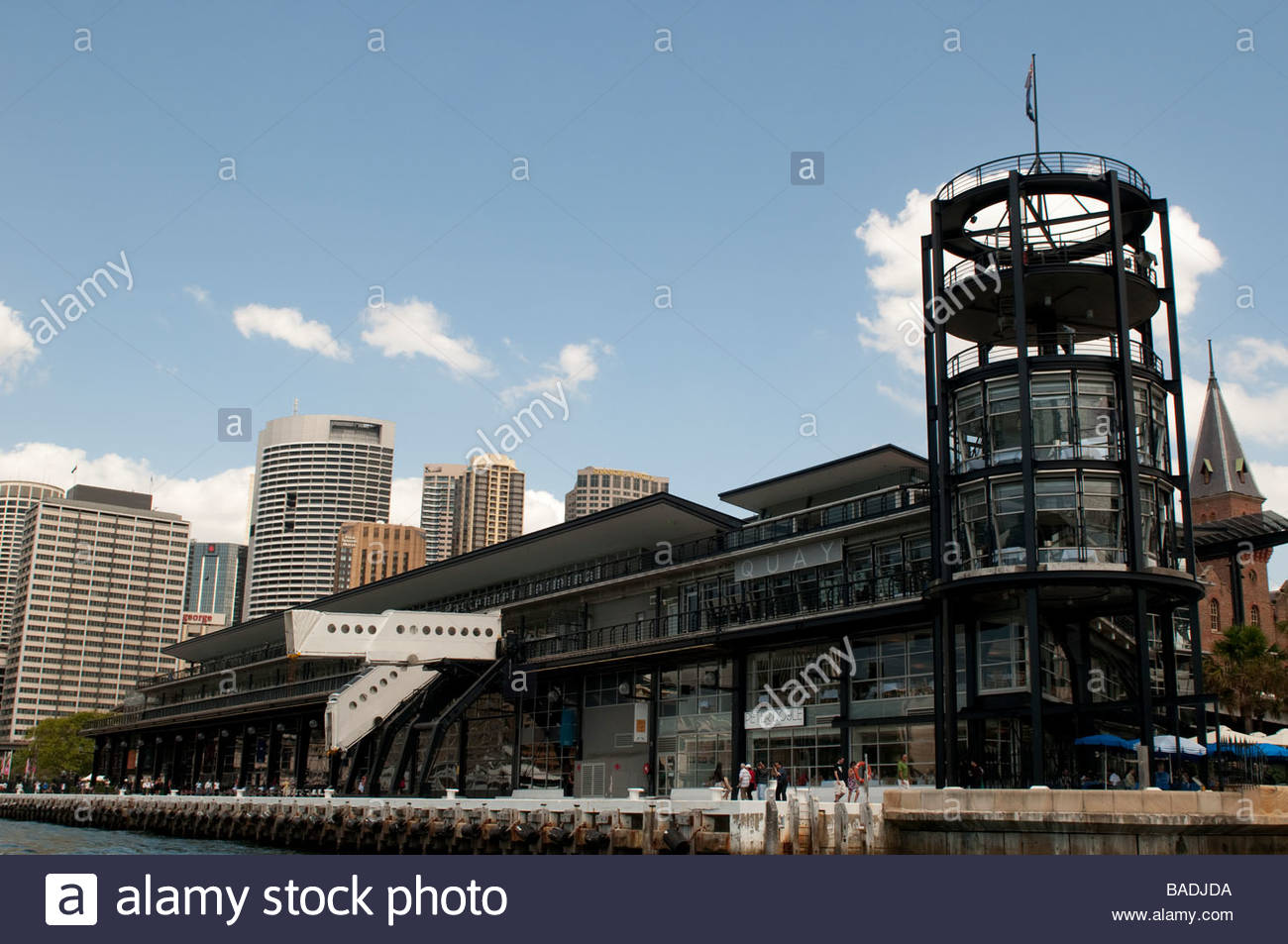 Overseas Passenger Terminal Sydney Harbour New South Wales Australia - Stock Image