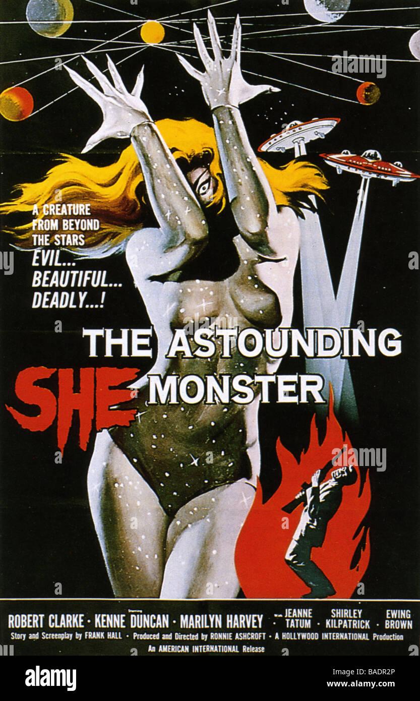 THE ASTOUNDING SHE MONSTER Poster for 1958 American International film - Stock Image