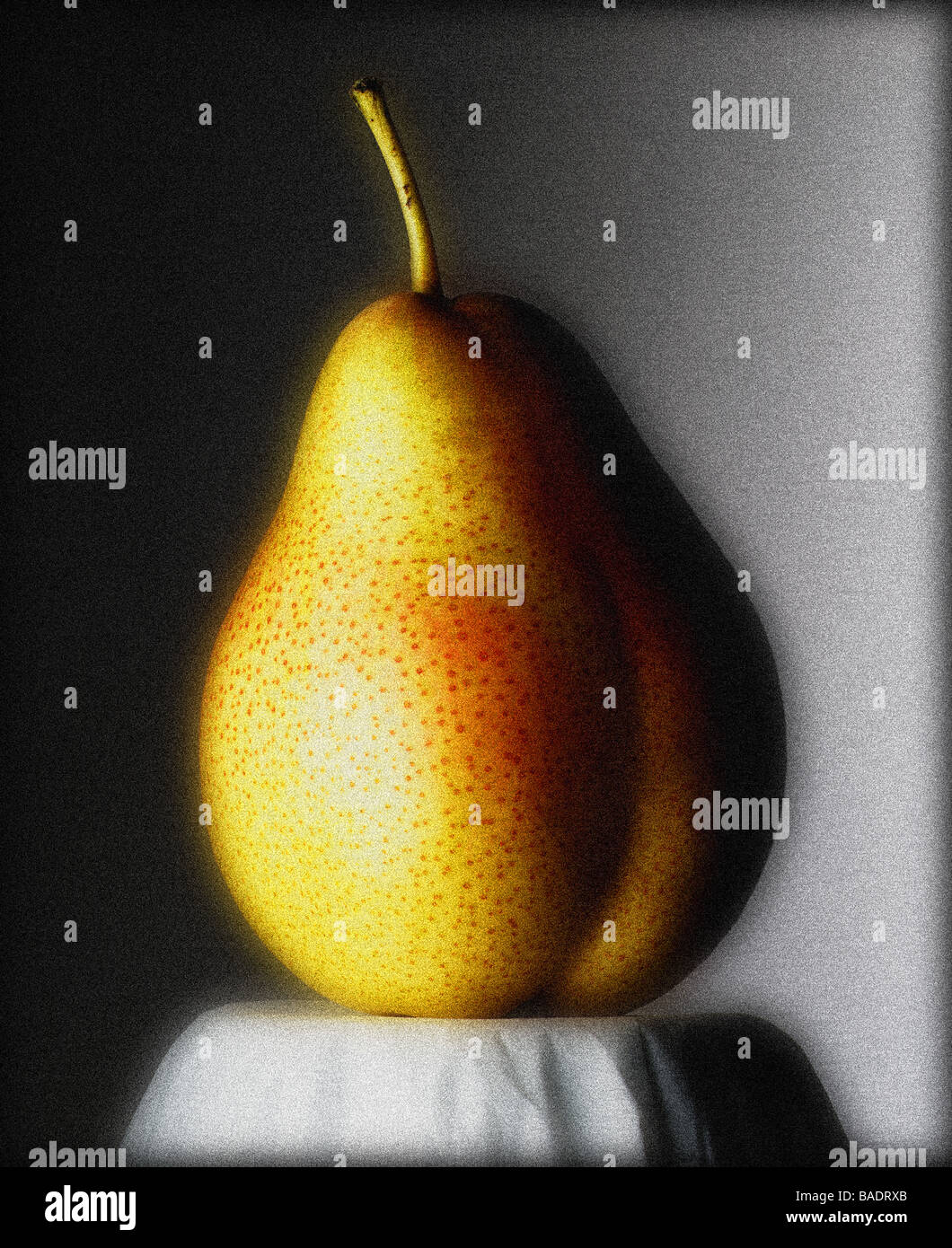 Portrait of a pear - Stock Image