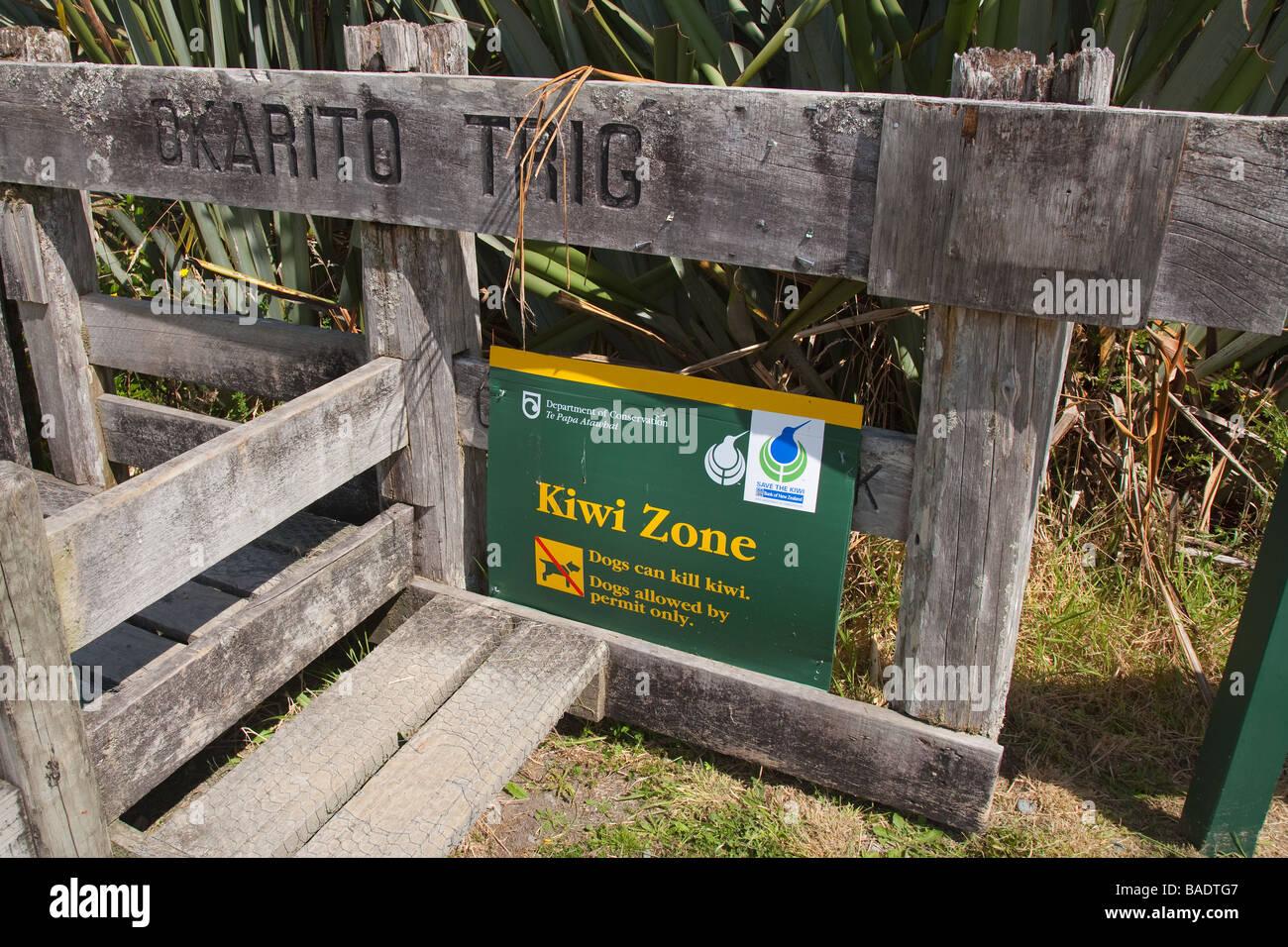 Kiwi Area North Island New Zealand - Stock Image