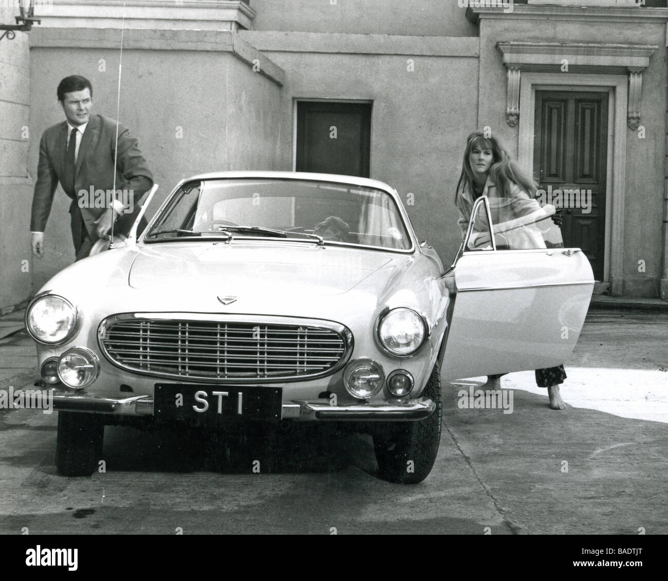 Volvo Car Wallpaper: THE SAINT 1960s TV Series With Roger Moore Seen Here With