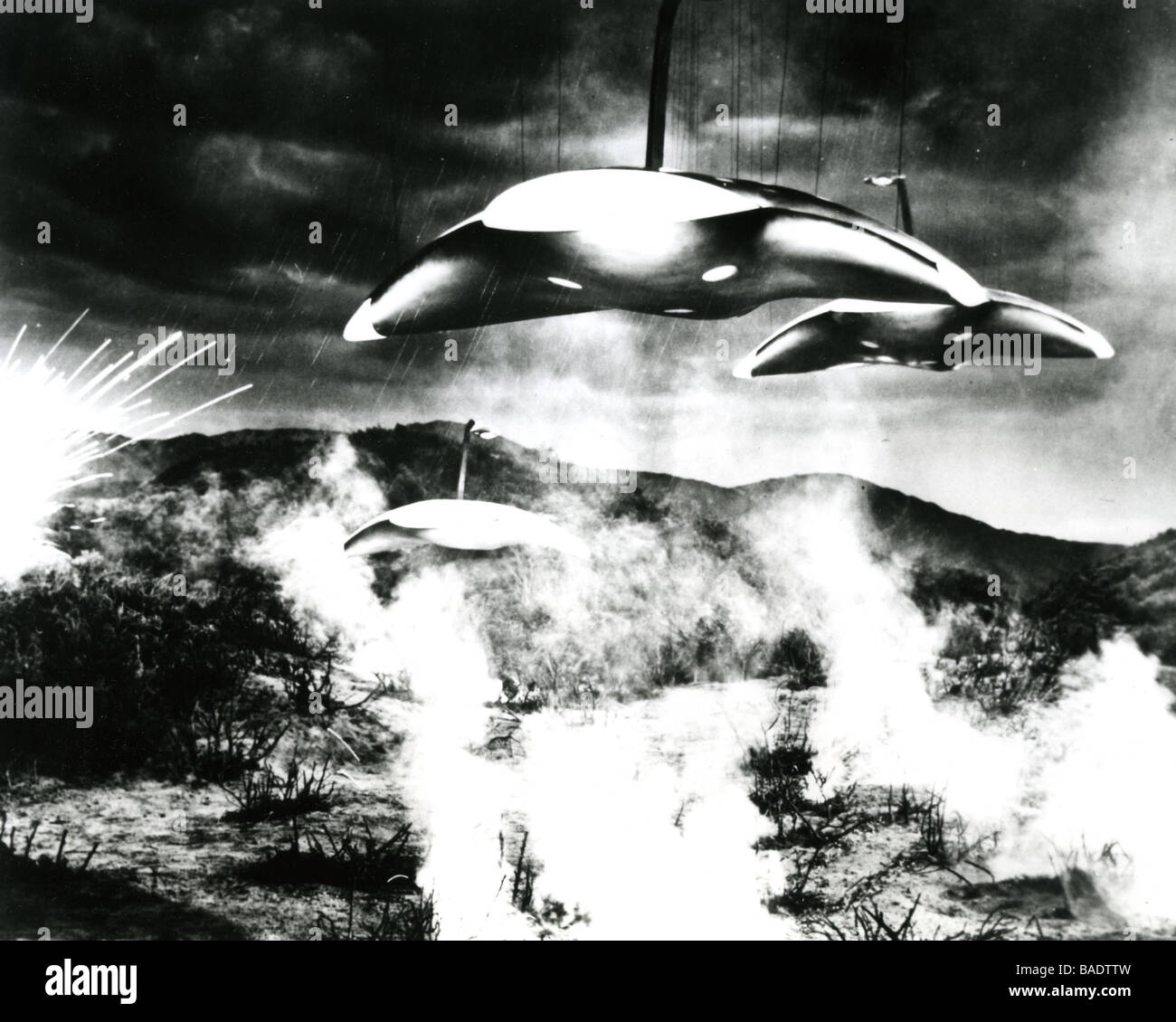 THE WAR OF THE WORLDS 1953 Paramount film based on the sci-fi novel by HG Wells - Stock Image