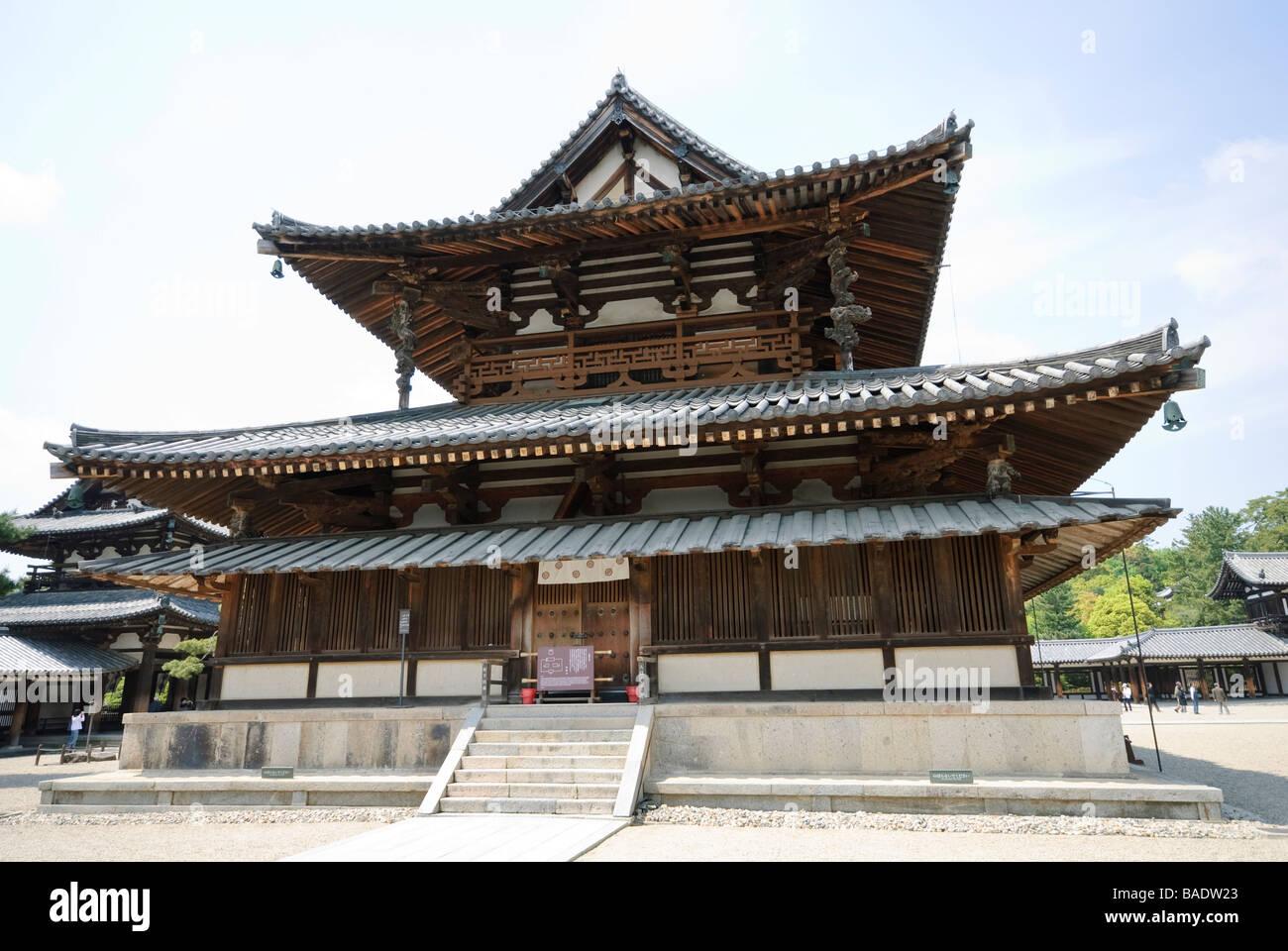 The Kondo (main hall) of the Sai-in part of Horyu-ji temple. Nara Prefecture, Japan. Stock Photo