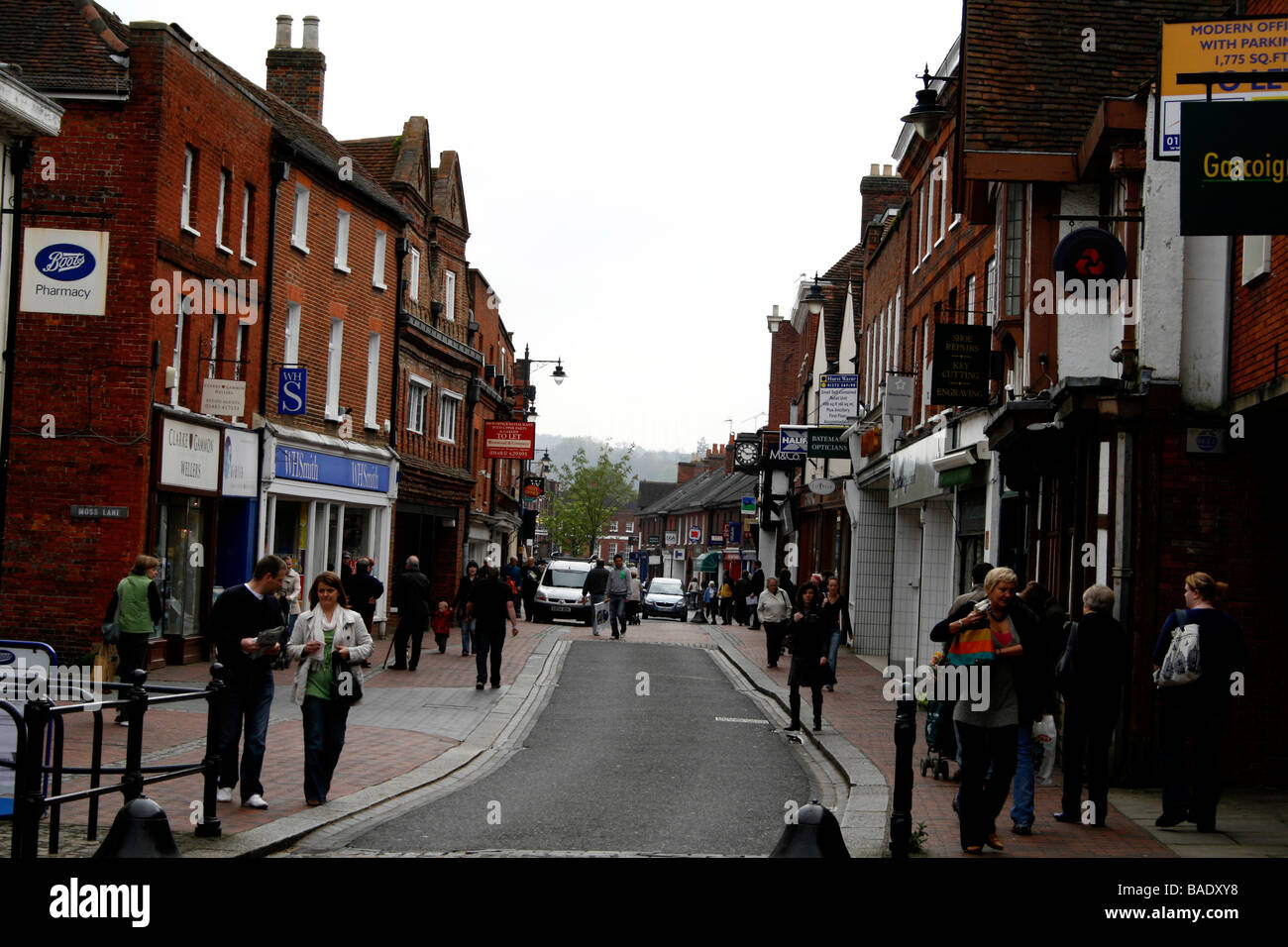 godalming high street surrey uk south of england - Stock Image