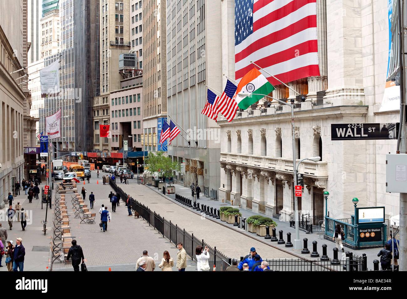 United States New York Wall Street Nyse New York Stock