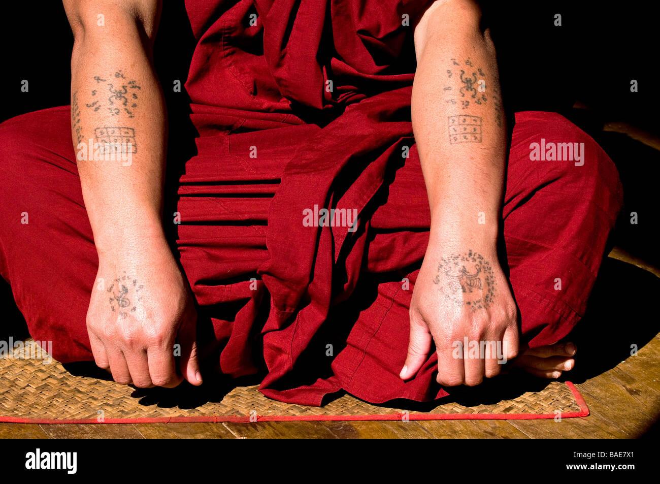 Burma Tattoos Stock Photos Burma Tattoos Stock Images Alamy